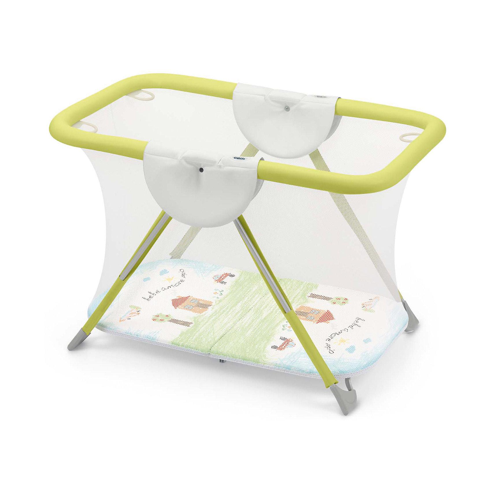 Игровой манеж Brevettato Bebe amore mio, CAMИгровые манежи<br>Манеж - отличный способ организовать игровое пространство крохи, пока мама занята. Манеж Brevettato имеет устойчивую конструкцию. Надежное и крепкое дно, мягкие бортики, прочный механизм складывания гарантируют безопасность вашего малыша. Модель оснащена 4 ручками, за которые ребенок сможет держаться и подтягиваться. Манеж выполнены из высококачественных нетоксичных материалов безопасных для детей. <br><br>Дополнительная информация:<br><br>- Материал: пластик, текстиль, резина, металл.<br>- Размер манежа: 121 х 76 х 79 см.<br>- Размер в сложенном виде: 25 х 76 х 76 см.<br>- Быстро и легко складывается книжкой.<br>- 4 ручки.<br><br>Игровой манеж Bebe amore mio, CAM, можно купить в нашем магазине.<br><br>Ширина мм: 790<br>Глубина мм: 220<br>Высота мм: 1000<br>Вес г: 14000<br>Цвет: зеленый<br>Возраст от месяцев: 0<br>Возраст до месяцев: 18<br>Пол: Унисекс<br>Возраст: Детский<br>SKU: 4443768