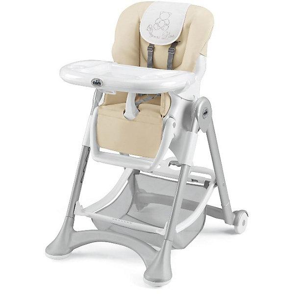 Стульчик для кормления Campione Elegant, CAM, Cream LeatheretteСтульчики для кормления<br>Очень удобный и комфортный стульчик для кормления обязательно понравится малышам! Мягкое сиденье с регулируемой спинкой, страховочными ремнями и удобным разделителем для ног обеспечит малышам комфорт и безопасность. Стульчик имеет колесики, облегчающие перемещение по квартире; удобную подставку для ножек ребенка; съемный стол можно мыть в посудомоечной машине. Обивка стула выполнена из мягкой ткани, сам стул изготовлен из высококачественных прочных и экологичных материалов. Передняя часть рамы снабжена нескользящими ножками, которые обеспечивают дополнительную безопасность. Под сиденьем располагается большая корзина для игрушек и вещей. <br><br>Дополнительная информация:<br><br>- Материал: пластик, металл, <br>- Размеры : 109х84х61 см<br>- Размеры в сложенном виде: 97х40х61 см.<br>- Колесики.<br>- Вместительная корзина внизу. <br>- Нескользящие ножки.<br>- Регулируемый наклон спинки ( 3 положения, до положения лежа).<br>- Компактно складывается.<br>- Съемный стол (можно мыть в посудомоечной машине).<br>- Регулировка по высоте в 6 положениях. <br>- Регулируемая подножка.<br>- 5-ти точечные ремни безопасности.<br>- Чехол из ткани легко чистить. <br><br>Стульчик для кормления Campione Elegant, CAM, Cream Leatherette, можно купить в нашем магазине.<br><br>Ширина мм: 627<br>Глубина мм: 307<br>Высота мм: 980<br>Вес г: 12200<br>Возраст от месяцев: 6<br>Возраст до месяцев: 36<br>Пол: Унисекс<br>Возраст: Детский<br>SKU: 4443772
