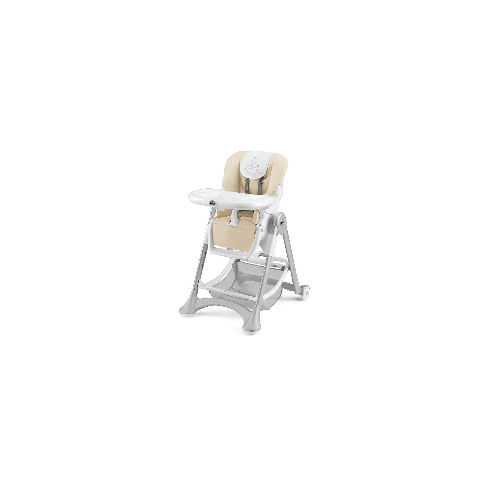 Стульчик для кормления Campione Elegant, CAM, Cream LeatheretteОчень удобный и комфортный стульчик для кормления обязательно понравится малышам! Мягкое сиденье с регулируемой спинкой, страховочными ремнями и удобным разделителем для ног обеспечит малышам комфорт и безопасность. Стульчик имеет колесики, облегчающие перемещение по квартире; удобную подставку для ножек ребенка; съемный стол можно мыть в посудомоечной машине. Обивка стула выполнена из мягкой ткани, сам стул изготовлен из высококачественных прочных и экологичных материалов. Передняя часть рамы снабжена нескользящими ножками, которые обеспечивают дополнительную безопасность. Под сиденьем располагается большая корзина для игрушек и вещей. <br><br>Дополнительная информация:<br><br>- Материал: пластик, металл, <br>- Размеры : 109х84х61 см<br>- Размеры в сложенном виде: 97х40х61 см.<br>- Колесики.<br>- Вместительная корзина внизу. <br>- Нескользящие ножки.<br>- Регулируемый наклон спинки ( 3 положения, до положения лежа).<br>- Компактно складывается.<br>- Съемный стол (можно мыть в посудомоечной машине).<br>- Регулировка по высоте в 6 положениях. <br>- Регулируемая подножка.<br>- 5-ти точечные ремни безопасности.<br>- Чехол из ткани легко чистить. <br><br>Стульчик для кормления Campione Elegant, CAM, Cream Leatherette, можно купить в нашем магазине.<br><br>Ширина мм: 627<br>Глубина мм: 307<br>Высота мм: 980<br>Вес г: 12200<br>Возраст от месяцев: 6<br>Возраст до месяцев: 36<br>Пол: Унисекс<br>Возраст: Детский<br>SKU: 4443772