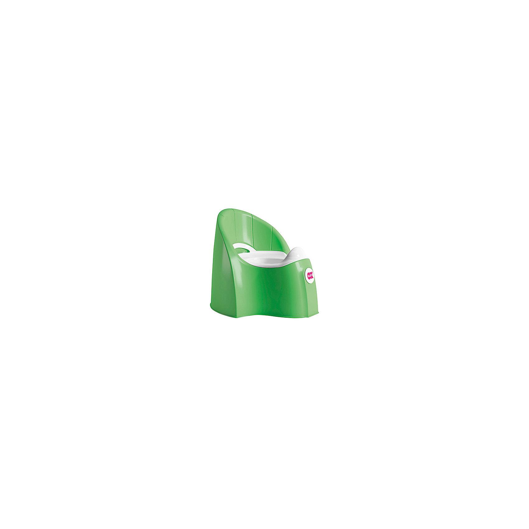 Горшок Pasha, Ok Baby, зеленыйГоршок имеет анатомическое сиденье и съемную емкость для удобной очистки. Яркий горшок со спинкой обязательно понравится ребенку и обеспечит ему максимальный комфорт, что является важным фактором в приучении ребенка к туалету. Изделие выполнено из высококачественного прочного пластика, для большей устойчивости оснащено антискользящей накладкой внизу.  <br><br>Дополнительная информация:<br><br>- Материал: пластик.<br>- Размер: 33,5 x 36,5 x 31 см.<br>- Съемная ёмкость.<br>- Удобная спинка.<br><br>Горшок Pasha, Ok Baby, зеленый, можно купить в нашем магазине.<br><br>Ширина мм: 365<br>Глубина мм: 335<br>Высота мм: 310<br>Вес г: 2500<br>Возраст от месяцев: 6<br>Возраст до месяцев: 36<br>Пол: Унисекс<br>Возраст: Детский<br>SKU: 4443775