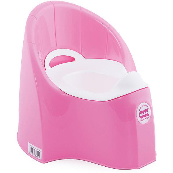 Горшок Pasha, Ok Baby, розовыйДетские горшки и писсуары<br>Горшок имеет анатомическое сиденье и съемную емкость для удобной очистки. Яркий горшок со спинкой обязательно понравится ребенку и обеспечит ему максимальный комфорт, что является важным фактором в приучении ребенка к туалету. Изделие выполнено из высококачественного прочного пластика, для большей устойчивости оснащено антискользящей накладкой внизу.  <br><br>Дополнительная информация:<br><br>- Материал: пластик.<br>- Размер: 33,5 x 36,5 x 31 см.<br>- Съемная ёмкость.<br>- Удобная спинка.<br><br>Горшок Pasha, Ok Baby, розовый, можно купить в нашем магазине.<br>Ширина мм: 365; Глубина мм: 335; Высота мм: 310; Вес г: 2500; Возраст от месяцев: 6; Возраст до месяцев: 36; Пол: Унисекс; Возраст: Детский; SKU: 4443777;