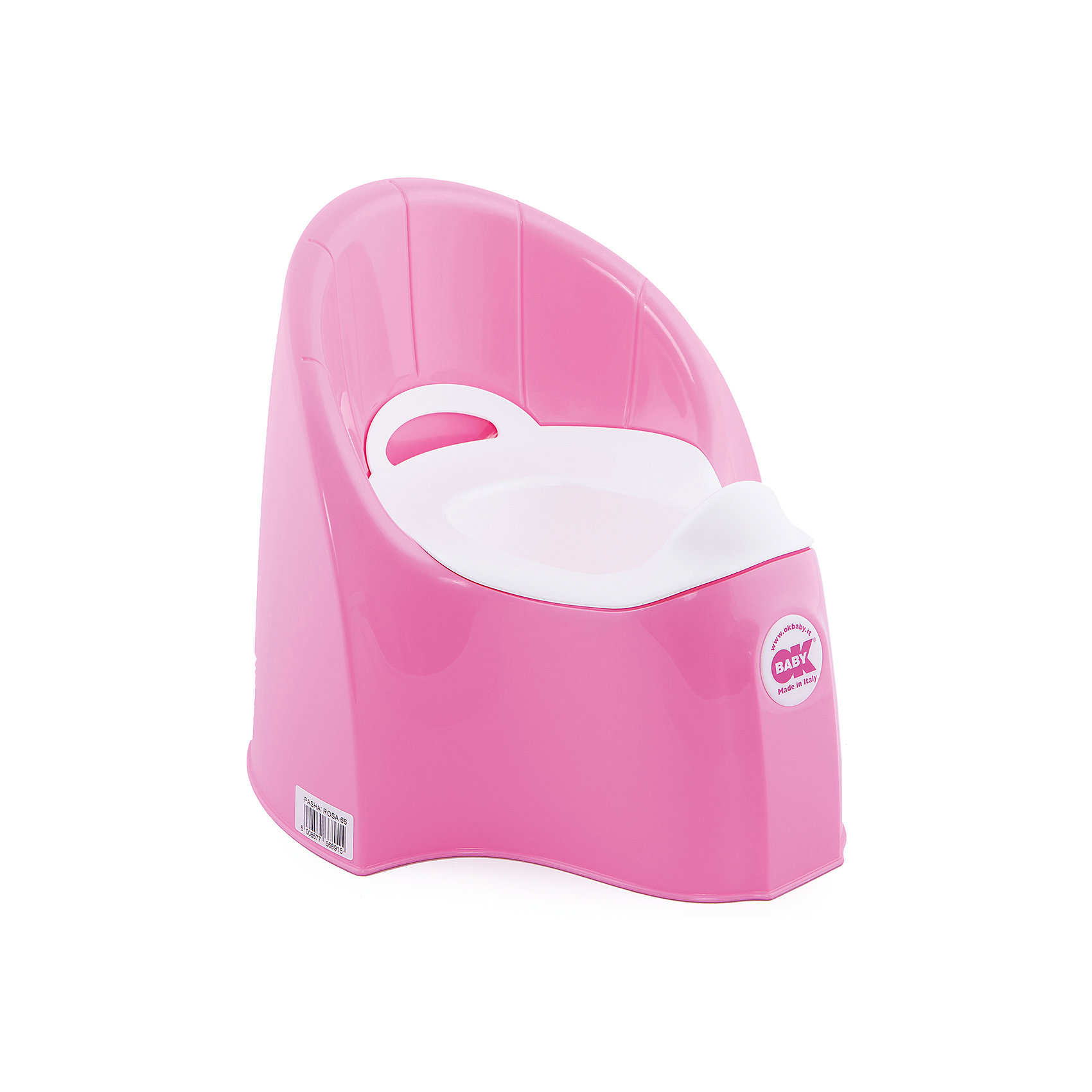 Горшок Pasha, Ok Baby, розовыйГоршок имеет анатомическое сиденье и съемную емкость для удобной очистки. Яркий горшок со спинкой обязательно понравится ребенку и обеспечит ему максимальный комфорт, что является важным фактором в приучении ребенка к туалету. Изделие выполнено из высококачественного прочного пластика, для большей устойчивости оснащено антискользящей накладкой внизу.  <br><br>Дополнительная информация:<br><br>- Материал: пластик.<br>- Размер: 33,5 x 36,5 x 31 см.<br>- Съемная ёмкость.<br>- Удобная спинка.<br><br>Горшок Pasha, Ok Baby, розовый, можно купить в нашем магазине.<br><br>Ширина мм: 365<br>Глубина мм: 335<br>Высота мм: 310<br>Вес г: 2500<br>Возраст от месяцев: 6<br>Возраст до месяцев: 36<br>Пол: Унисекс<br>Возраст: Детский<br>SKU: 4443777