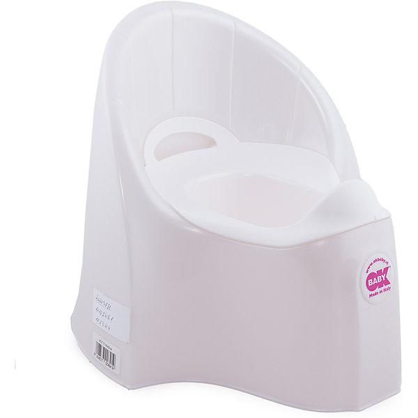 Горшок Pasha, Ok Baby, белыйДетские горшки<br>Горшок имеет анатомическое сиденье и съемную емкость для удобной очистки. Яркий горшок со спинкой обязательно понравится ребенку и обеспечит ему максимальный комфорт, что является важным фактором в приучении ребенка к туалету. Изделие выполнено из высококачественного прочного пластика, для большей устойчивости оснащено антискользящей накладкой внизу.  <br><br>Дополнительная информация:<br><br>- Материал: пластик.<br>- Размер: 33,5 x 36,5 x 31 см.<br>- Съемная ёмкость.<br>- Удобная спинка.<br><br>Горшок Pasha, Ok Baby, белый, можно купить в нашем магазине.<br><br>Ширина мм: 365<br>Глубина мм: 335<br>Высота мм: 310<br>Вес г: 2500<br>Возраст от месяцев: 6<br>Возраст до месяцев: 36<br>Пол: Унисекс<br>Возраст: Детский<br>SKU: 4443781