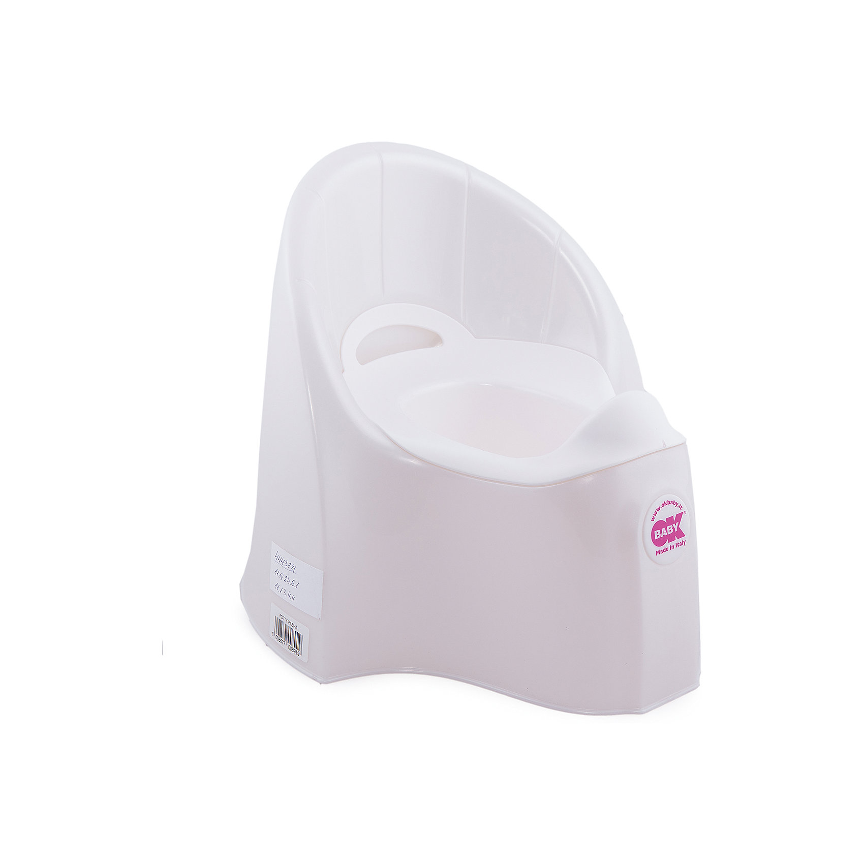 Горшок Pasha, Ok Baby, белыйГоршок имеет анатомическое сиденье и съемную емкость для удобной очистки. Яркий горшок со спинкой обязательно понравится ребенку и обеспечит ему максимальный комфорт, что является важным фактором в приучении ребенка к туалету. Изделие выполнено из высококачественного прочного пластика, для большей устойчивости оснащено антискользящей накладкой внизу.  <br><br>Дополнительная информация:<br><br>- Материал: пластик.<br>- Размер: 33,5 x 36,5 x 31 см.<br>- Съемная ёмкость.<br>- Удобная спинка.<br><br>Горшок Pasha, Ok Baby, белый, можно купить в нашем магазине.<br><br>Ширина мм: 365<br>Глубина мм: 335<br>Высота мм: 310<br>Вес г: 2500<br>Возраст от месяцев: 6<br>Возраст до месяцев: 36<br>Пол: Унисекс<br>Возраст: Детский<br>SKU: 4443781