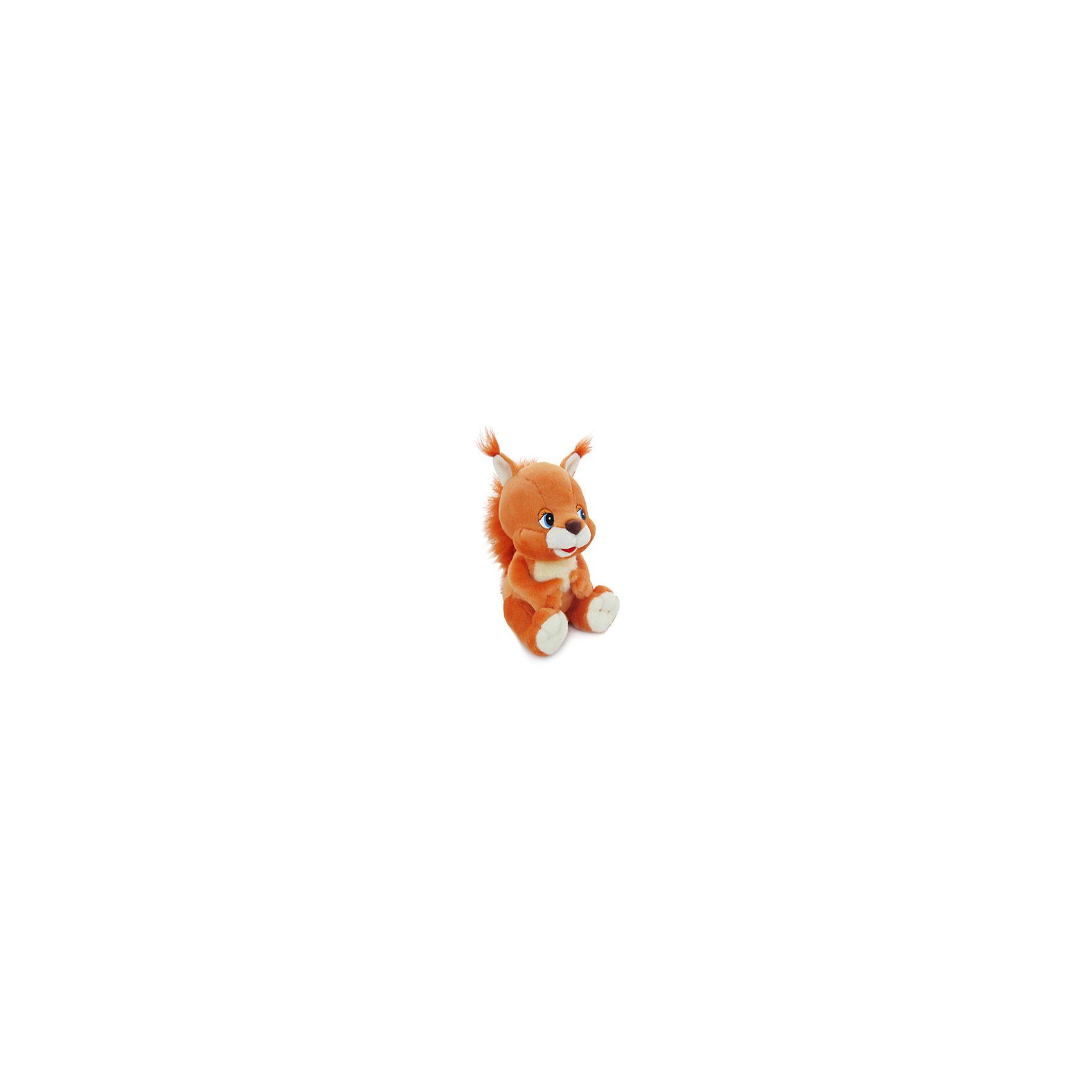 Белка музыкальная, 20 см., LAVAОзвученные мягкие игрушки<br>Очаровательная рыжая белочка очень мягкая и приятная на ощупь и обязательно понравится малышам. Она споет песенку и обязательно развеселит ребенка. Игрушка выполнена из экологичных высококачественных материалов, безопасна для детей. <br><br>Дополнительная информация:<br><br>- Материал: искусственный мех, текстиль, синтепон, пластик.<br>- Высота: 20 см. <br>- Поет песенку <br>- Элемент питания: батарейка (в комплекте).<br><br>Белку музыкальную, 20 см., LAVA (ЛАВА) можно купить в нашем магазине.<br><br>Ширина мм: 150<br>Глубина мм: 150<br>Высота мм: 200<br>Вес г: 215<br>Возраст от месяцев: 36<br>Возраст до месяцев: 1188<br>Пол: Унисекс<br>Возраст: Детский<br>SKU: 4444129