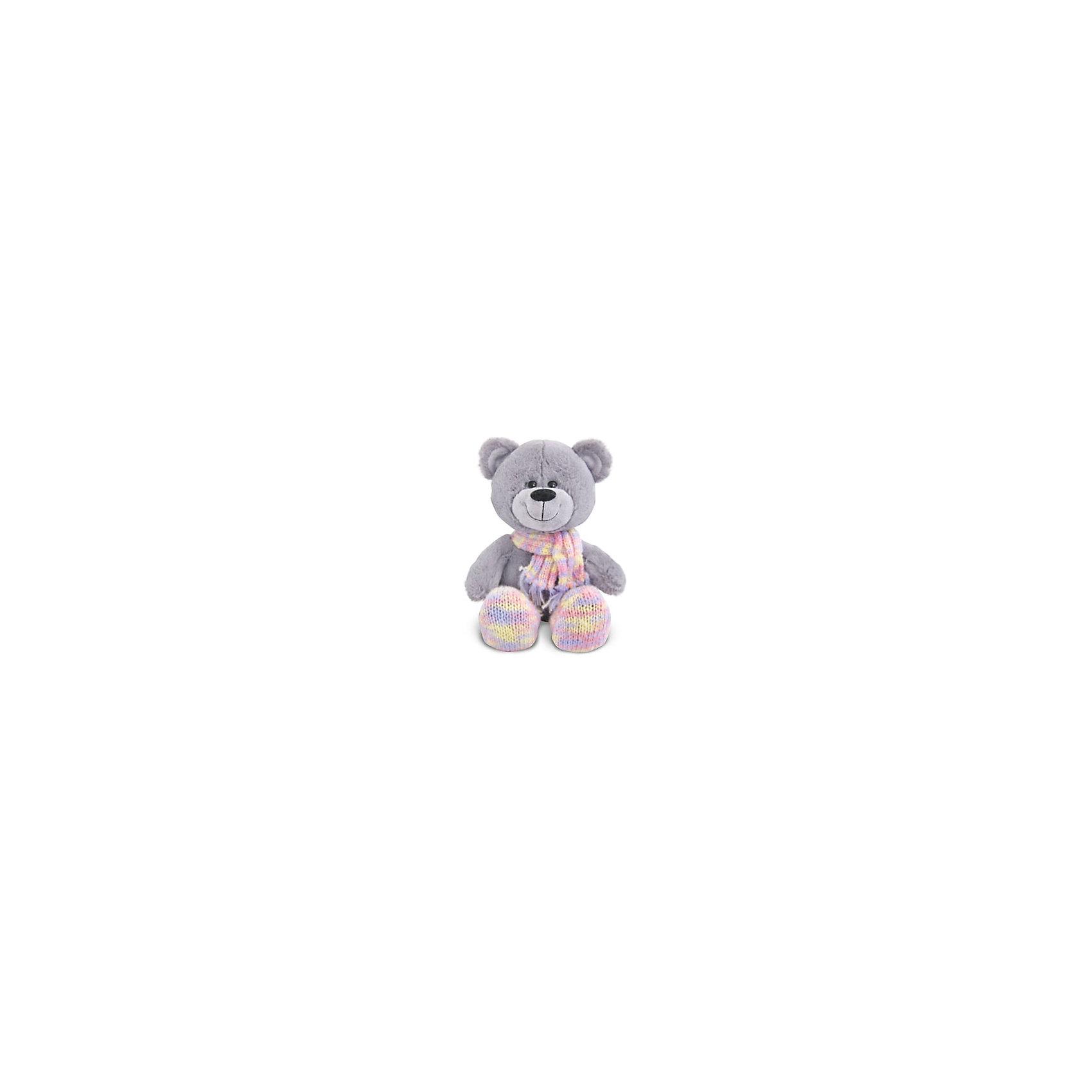 Мишка в шарфе и носочках, музыкальный, 21 см., LAVA