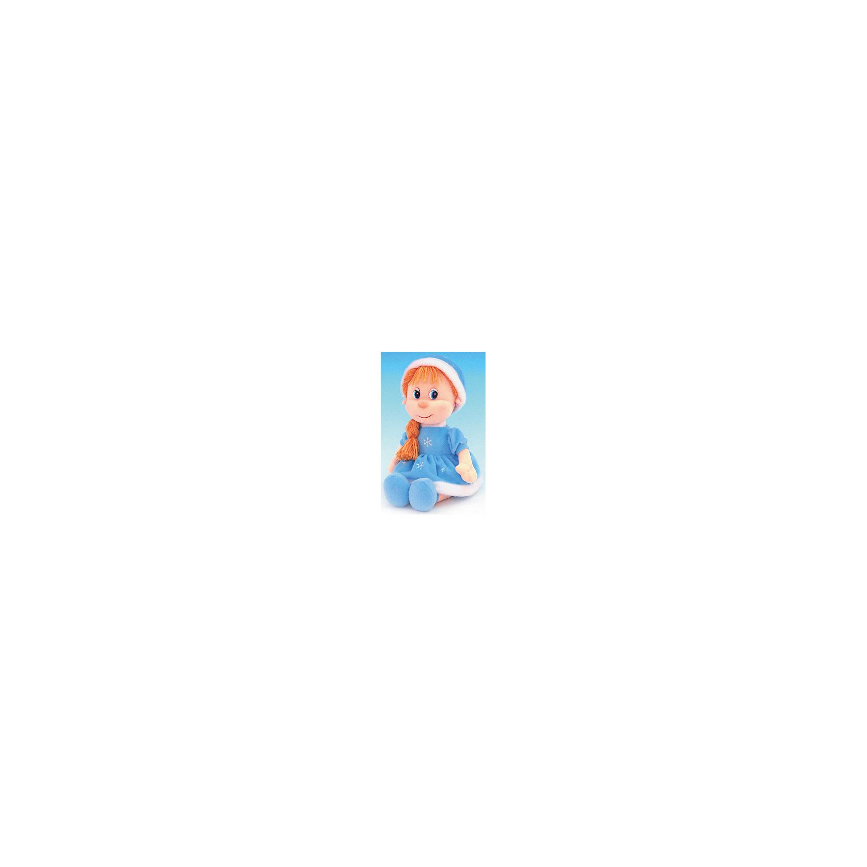 Снегурочка музыкальная, LAVAОчаровательная Снегурочка споет девочке песенку и обязательно позабавит малышку. Волосы куклы изготовлены из ниток, они не запутаются, не требуют постоянного расчесывания, поэтому их удобно заплетать даже самым маленьким девочкам. Игрушка выполнена из высококачественного гипоаллергенного материала, очень приятна на ощупь, абсолютно безопасна для детей.  <br><br>Дополнительная информация:<br><br>- Материал: текстиль, синтепон, пластик.<br>- Высота: 32 см. <br>- Поет песенку. <br>- Элемент питания: батарейка (в комплекте).<br><br>Снегурочку, музыкальную, LAVA (ЛАВА) можно купить в нашем магазине.<br><br>Ширина мм: 150<br>Глубина мм: 150<br>Высота мм: 230<br>Вес г: 250<br>Возраст от месяцев: 36<br>Возраст до месяцев: 1188<br>Пол: Женский<br>Возраст: Детский<br>SKU: 4444148