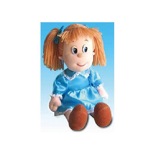 Кукла Алина, музыкальная, 21 см., LAVAМузыкальные мягкие игрушки<br>Эта милая кукла обязательно понравится девочкам! Алина одета в голубое платье с пышной юбкой, она умеет петь песенку и обязательно позабавит малышку. Волосы куклы изготовлены из ниток, они не запутаются, не требуют постоянного расчесывания, поэтому их удобно заплетать даже самым маленьким девочкам. Игрушка выполнена из высококачественного гипоаллергенного материала, очень приятна на ощупь, абсолютно безопасна для детей.  <br><br>Дополнительная информация:<br><br>- Материал: текстиль, синтепон, пластик.<br>- Высота: 21 см. <br>- Поет песенку. <br>- Элемент питания: батарейка (в комплекте).<br>Внимание! Данный товар представлен в асортименте (кукла в розовом либо в голубом платье). К сожалению, предварительный выбор невозможен. При заказе нескольких единиц данного товара возможно получение одинаковых.<br><br>Куклу Алину музыкальную, 21 см., LAVA (ЛАВА) можно купить в нашем магазине.<br><br>Ширина мм: 150<br>Глубина мм: 150<br>Высота мм: 210<br>Вес г: 321<br>Возраст от месяцев: 36<br>Возраст до месяцев: 1188<br>Пол: Женский<br>Возраст: Детский<br>SKU: 4444150