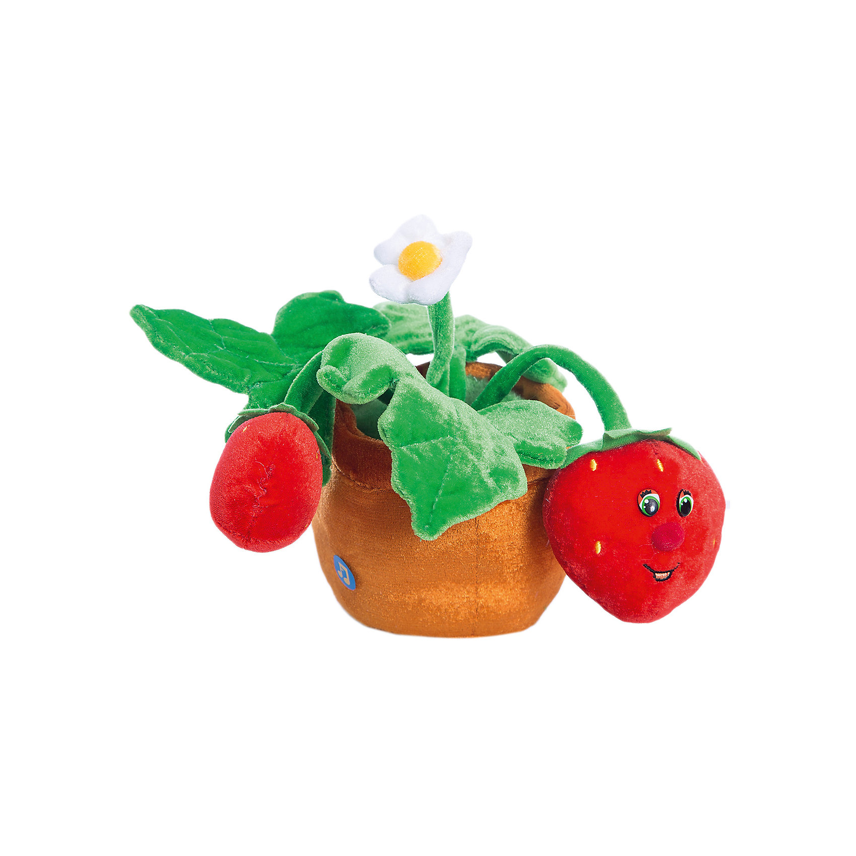 Земляника музыкальная, 22 см., LAVAМягкие игрушки животные<br>Этот кустик земляники никогда не завянет и будет радовать ребенка яркостью и веселой песенкой! Игрушка выполнена из высококачественного гипоаллергенного материала, очень приятна на ощупь, абсолютно безопасна для детей.  <br><br>Дополнительная информация:<br><br>- Материал: текстиль, синтепон, пластик.<br>- Высота: 22 см. <br>- Поет песенку. <br>- Элемент питания: батарейка (в комплекте).<br><br>Землянику музыкальную, 22 см., LAVA (ЛАВА) можно купить в нашем магазине.<br><br>Ширина мм: 150<br>Глубина мм: 150<br>Высота мм: 220<br>Вес г: 311<br>Возраст от месяцев: 36<br>Возраст до месяцев: 1188<br>Пол: Унисекс<br>Возраст: Детский<br>SKU: 4444154