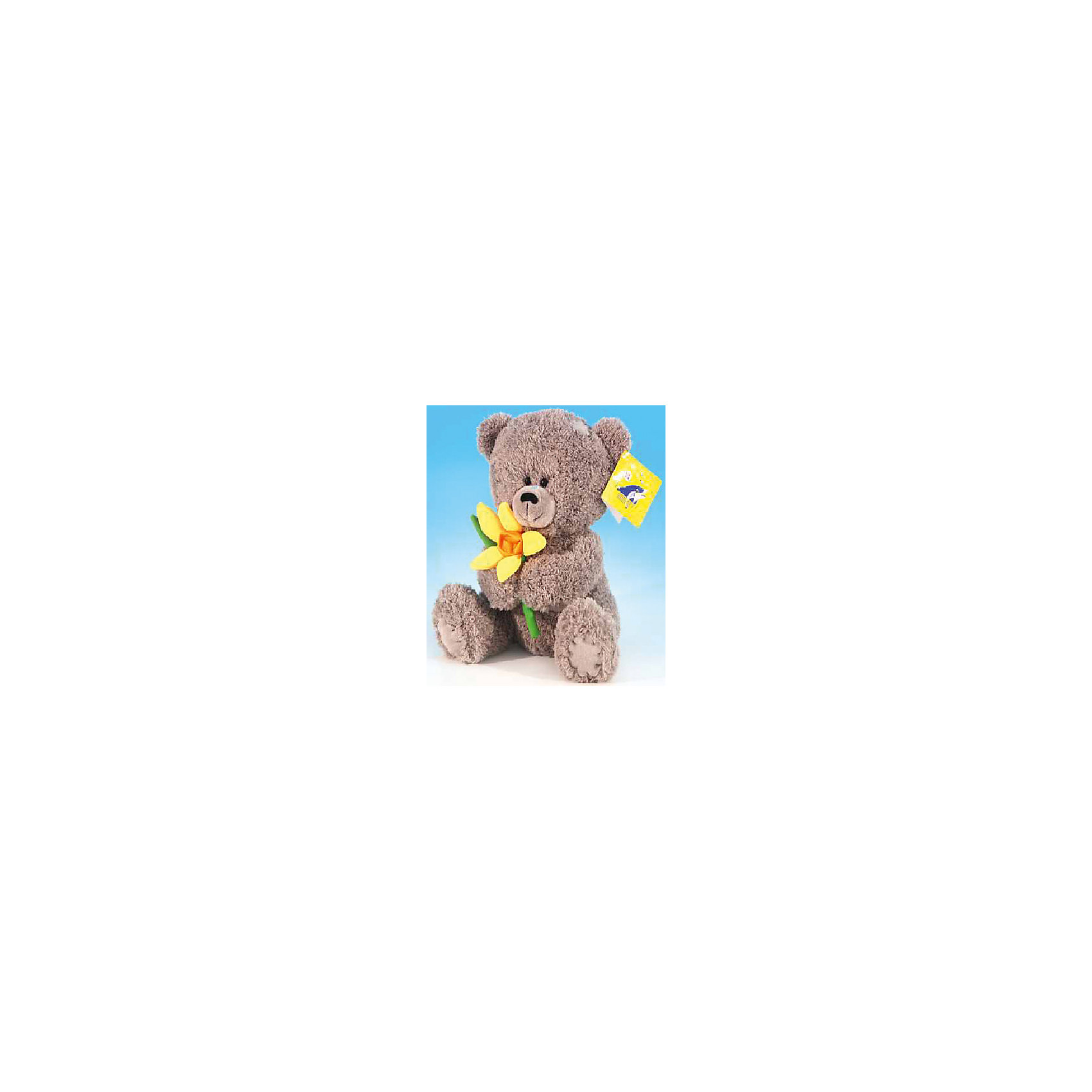 LAVA Медвежонок с нарциссом, музыкальный, 20см., LAVA lava жирафик музыкальный 31см lava