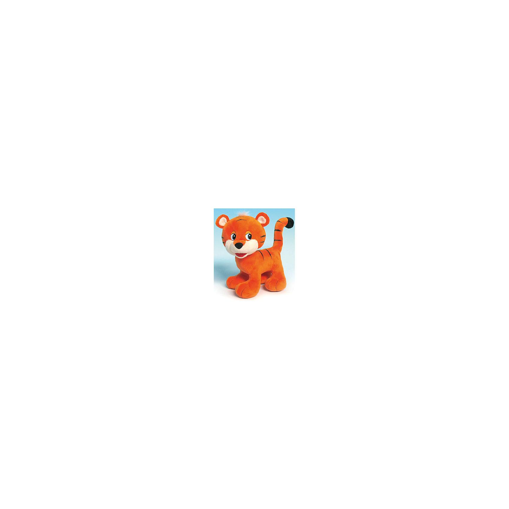 Тигренок-игрун, музыкальный, 19 см., LAVAЭтот тигренок очарует кого угодно. У него милые ушки и добрые глаза, а еще он умеет петь веселую песенку! Игрушка выполнена из высококачественного гипоаллергенного материала, очень приятна на ощупь, абсолютно безопасна для детей.  <br><br>Дополнительная информация:<br><br>- Материал: текстиль, синтепон, пластик.<br>- Высота: 19 см. <br>- Поет песенку. <br>- Элемент питания: батарейка (в комплекте).<br><br>Тигренка-игруна, музыкального, 19 см., LAVA (ЛАВА) можно купить в нашем магазине.<br><br>Ширина мм: 150<br>Глубина мм: 150<br>Высота мм: 190<br>Вес г: 182<br>Возраст от месяцев: 36<br>Возраст до месяцев: 1188<br>Пол: Унисекс<br>Возраст: Детский<br>SKU: 4444161