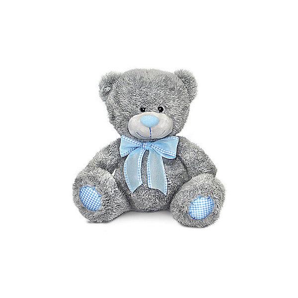 Медведь с голубым бантом, музыкальный, 24 см., LAVAМузыкальные мягкие игрушки<br>Очаровательный мишка не оставит равнодушным ни одного ребенка! Милый медведь очень мягкий и приятный на ощупь, он умеет петь песенку и обязательно поднимет настроение малышам! Мишка изготовлен из высококачественных экологичных материалов. <br><br>Дополнительная информация:<br><br>- Материал: искусственный мех, текстиль, синтепон, пластик.<br>- Высота: 24 см. <br>- Поет песенку <br>- Элемент питания: батарейка (в комплекте).<br><br>Мишку с голубым бантом, музыкального, 24 см., LAVA (ЛАВА) можно купить в нашем магазине.<br><br>Ширина мм: 150<br>Глубина мм: 150<br>Высота мм: 240<br>Вес г: 237<br>Возраст от месяцев: 36<br>Возраст до месяцев: 1188<br>Пол: Унисекс<br>Возраст: Детский<br>SKU: 4444172