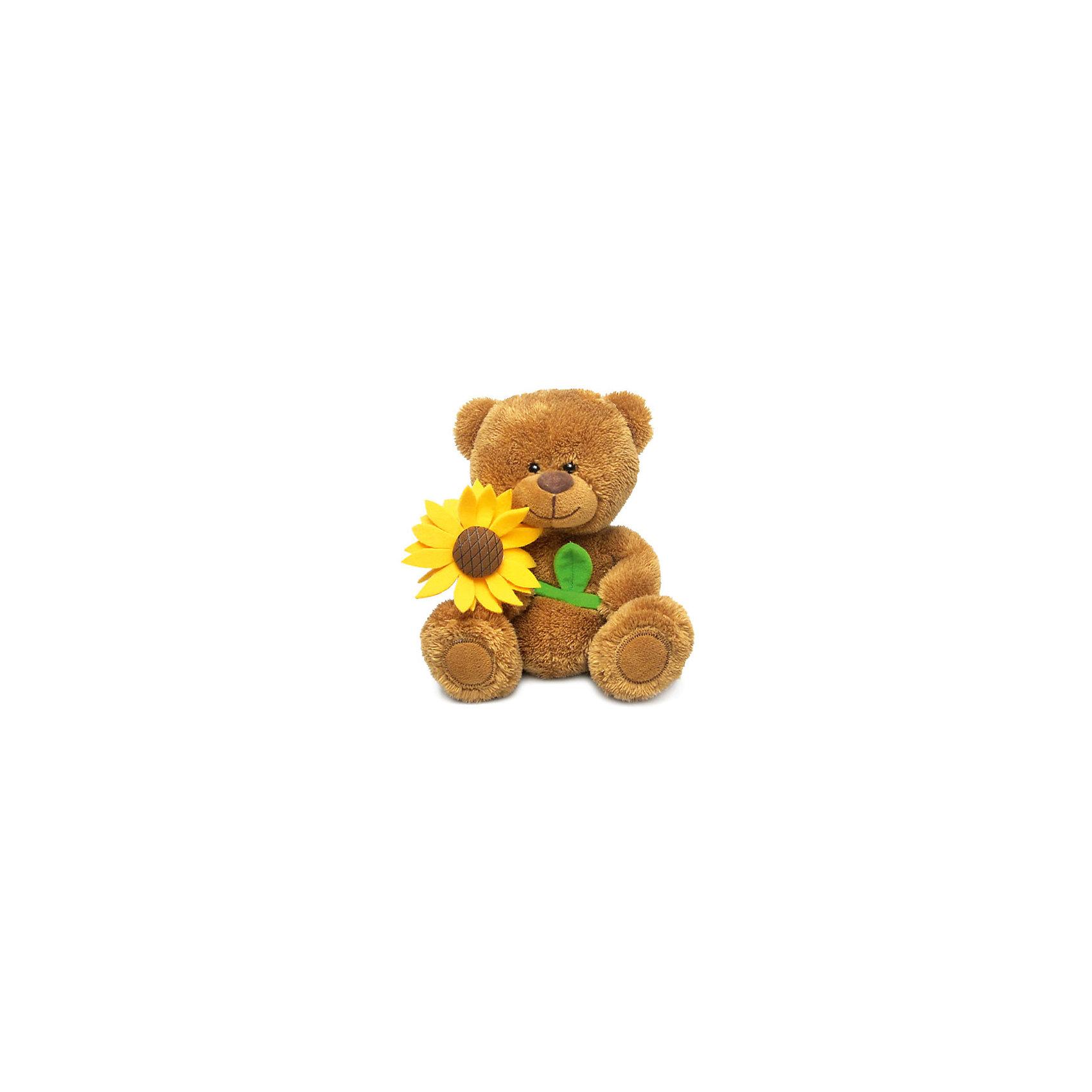 Медвежонок Сэмми с подсолнухом, музыкальный, LAVAМедвежата<br>Очаровательный мишка Сэмми не оставит равнодушным ни одного ребенка! Милый медведь очень мягкий и приятный на ощупь, он умеет петь песенку и обязательно поднимет настроение малышам! Мишка изготовлен из высококачественных экологичных материалов. <br><br>Дополнительная информация:<br><br>- Материал: искусственный мех, текстиль, синтепон, пластик.<br>- Высота: 18 см. <br>- Поет песенку <br>- Элемент питания: батарейка (в комплекте).<br><br>Медвежонка Сэмми с подсолнухом, музыкального, LAVA (ЛАВА) можно купить в нашем магазине.<br><br>Ширина мм: 150<br>Глубина мм: 150<br>Высота мм: 175<br>Вес г: 125<br>Возраст от месяцев: 36<br>Возраст до месяцев: 1188<br>Пол: Унисекс<br>Возраст: Детский<br>SKU: 4444180