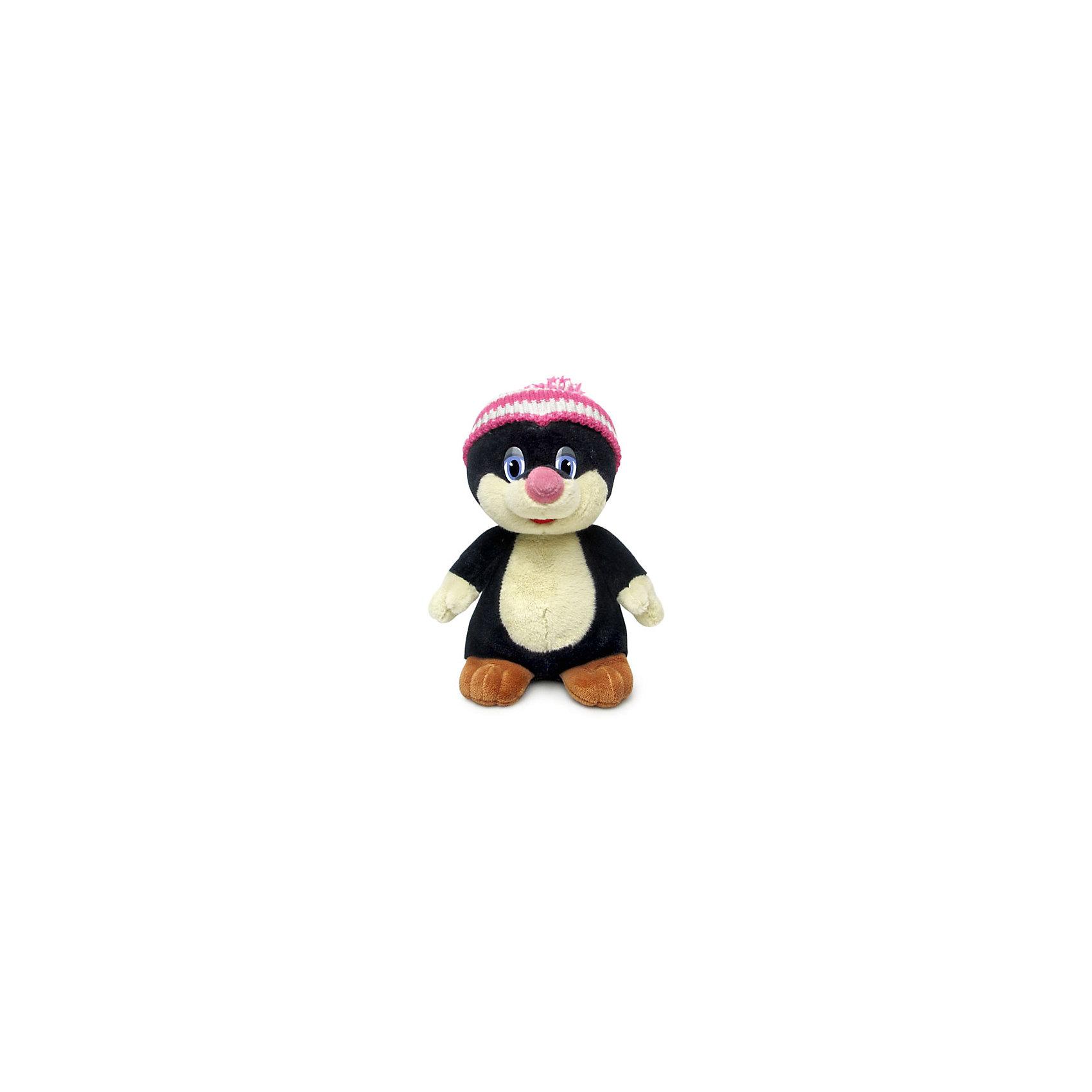 Крот в шапке, музыкальный, 25 см., LAVAОзвученные мягкие игрушки<br>Очаровательный крот в яркой шапке не оставит равнодушным ни одного малыша! Он умеет петь веселую песенку, которая обязательно развеселит кроху. Игрушка выполнена из приятного на ощупь экологичного материала безопасного для детей. <br><br>Дополнительная информация:<br><br>- Материал: искусственный мех, текстиль, синтепон, пластик.<br>- Высота: 25 см. <br>- Поет песенку <br>- Элемент питания: батарейка (в комплекте).<br><br>Крота в шапке, музыкального, 25 см., LAVA (ЛАВА) можно купить в нашем магазине.<br><br>Ширина мм: 150<br>Глубина мм: 150<br>Высота мм: 250<br>Вес г: 260<br>Возраст от месяцев: 36<br>Возраст до месяцев: 1188<br>Пол: Унисекс<br>Возраст: Детский<br>SKU: 4444186