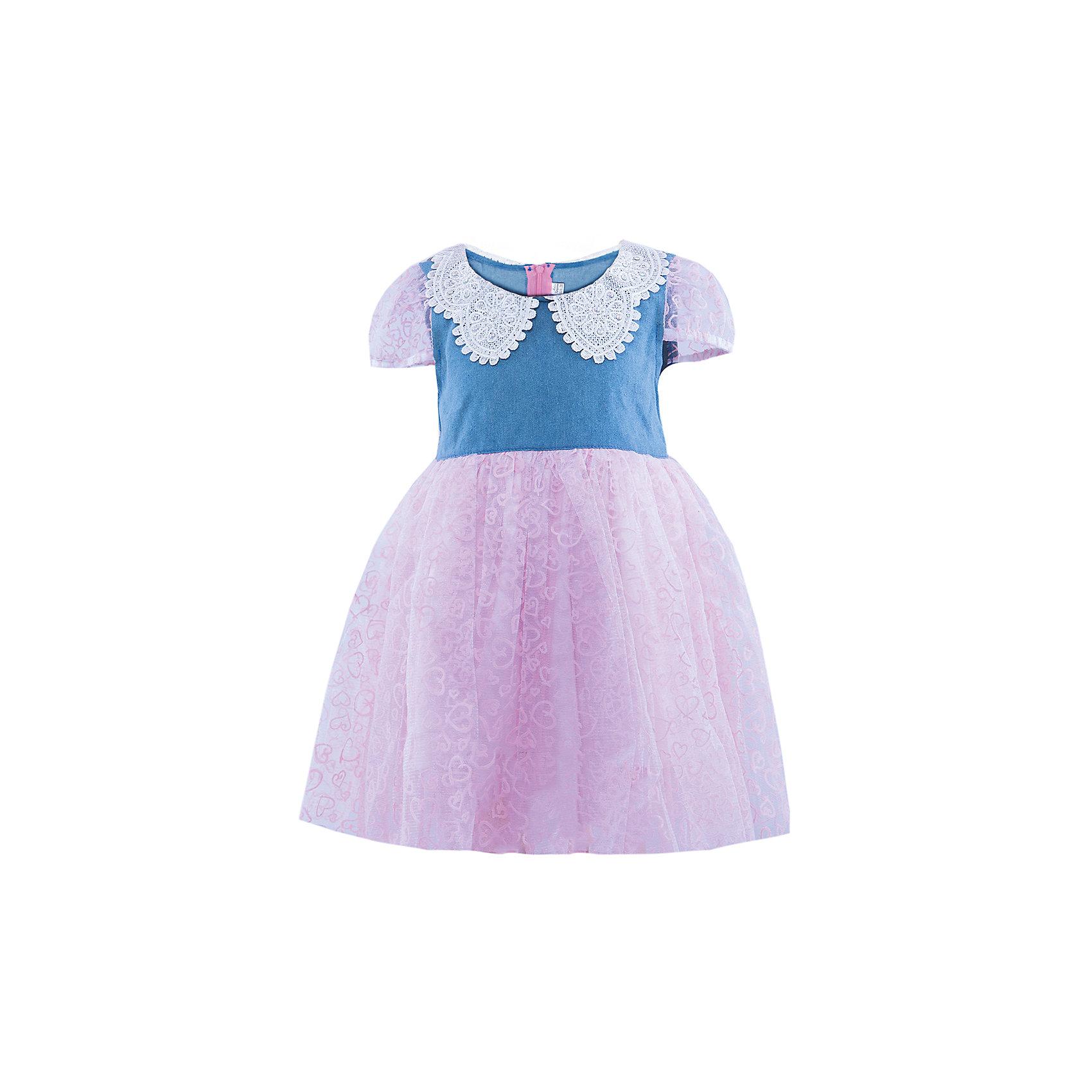Платье ВенераНарядное платье для девочки. Верх выполнен из джинсы, украшен кружевным воротником со стразами. Юбка платья воздушная и невесомая, состоящая из трех подьюбников. Рукава платья выполнены из принтованной сетки, со вставными резиночками. Красивое нарядное платье для празника и повседневной носки.<br><br>Ширина мм: 236<br>Глубина мм: 16<br>Высота мм: 184<br>Вес г: 177<br>Цвет: красный<br>Возраст от месяцев: 36<br>Возраст до месяцев: 48<br>Пол: Женский<br>Возраст: Детский<br>Размер: 98/104<br>SKU: 4445199