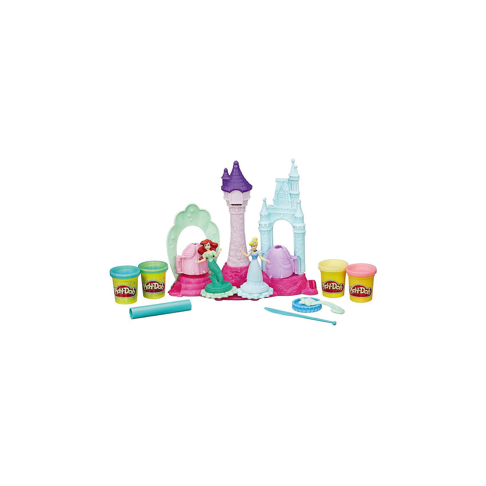 Hasbro Игровой набор Замок принцесс, Play-Doh игровой набор с пластилином play doh a7401 праздничный торт
