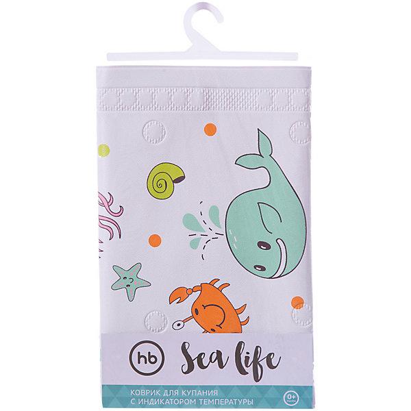 Коврик в ванну Sea Life, Happy BabyТовары для купания<br>Коврик для купания оснащён термоиндикатором, который позволит визуально определить повышение температуры воды. Благодаря присоскам коврик прочно зафиксируется на дне ванны. Высококачественный материал коврика легко моется, абсолютно безопасен для малышей. <br>Интересный яркий дизайн с изображением обитателей морского мира заинтересует кроху и превратит купание в весёлую игру, мягкий материал сделает пребывание малыша в воде комфортным.<br><br>Дополнительная информация:<br><br>- Материал: поливинилхлорид.<br>- Размер: 91х40 см. <br>- Крепление: присоски. <br>- Индикатор температуры. <br><br>Коврик для купания с сиденьем Sea Life Plus, Happy Baby (Хеппи Беби), можно купить в нашем магазине.<br><br>Ширина мм: 85<br>Глубина мм: 45<br>Высота мм: 350<br>Вес г: 240<br>Возраст от месяцев: 6<br>Возраст до месяцев: 216<br>Пол: Унисекс<br>Возраст: Детский<br>SKU: 4452326