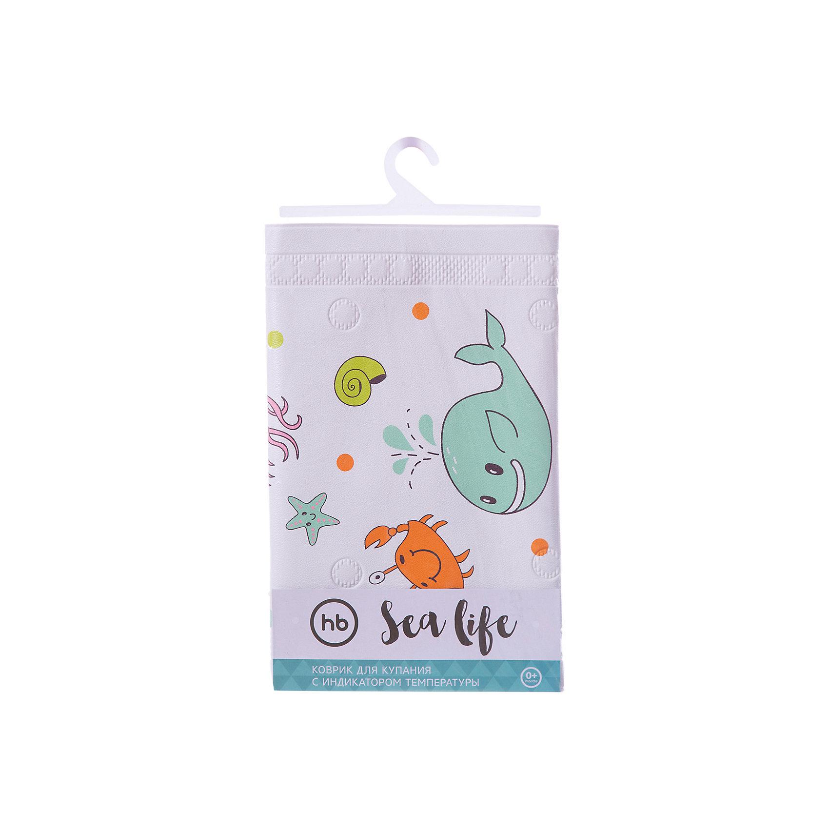 Коврик в ванну Sea Life, Happy BabyПрочие аксессуары<br>Коврик для купания оснащён термоиндикатором, который позволит визуально определить повышение температуры воды. Благодаря присоскам коврик прочно зафиксируется на дне ванны. Высококачественный материал коврика легко моется, абсолютно безопасен для малышей. <br>Интересный яркий дизайн с изображением обитателей морского мира заинтересует кроху и превратит купание в весёлую игру, мягкий материал сделает пребывание малыша в воде комфортным.<br><br>Дополнительная информация:<br><br>- Материал: поливинилхлорид.<br>- Размер: 91х40 см. <br>- Крепление: присоски. <br>- Индикатор температуры. <br><br>Коврик для купания с сиденьем Sea Life Plus, Happy Baby (Хеппи Беби), можно купить в нашем магазине.<br><br>Ширина мм: 85<br>Глубина мм: 45<br>Высота мм: 350<br>Вес г: 240<br>Возраст от месяцев: 6<br>Возраст до месяцев: 216<br>Пол: Унисекс<br>Возраст: Детский<br>SKU: 4452326