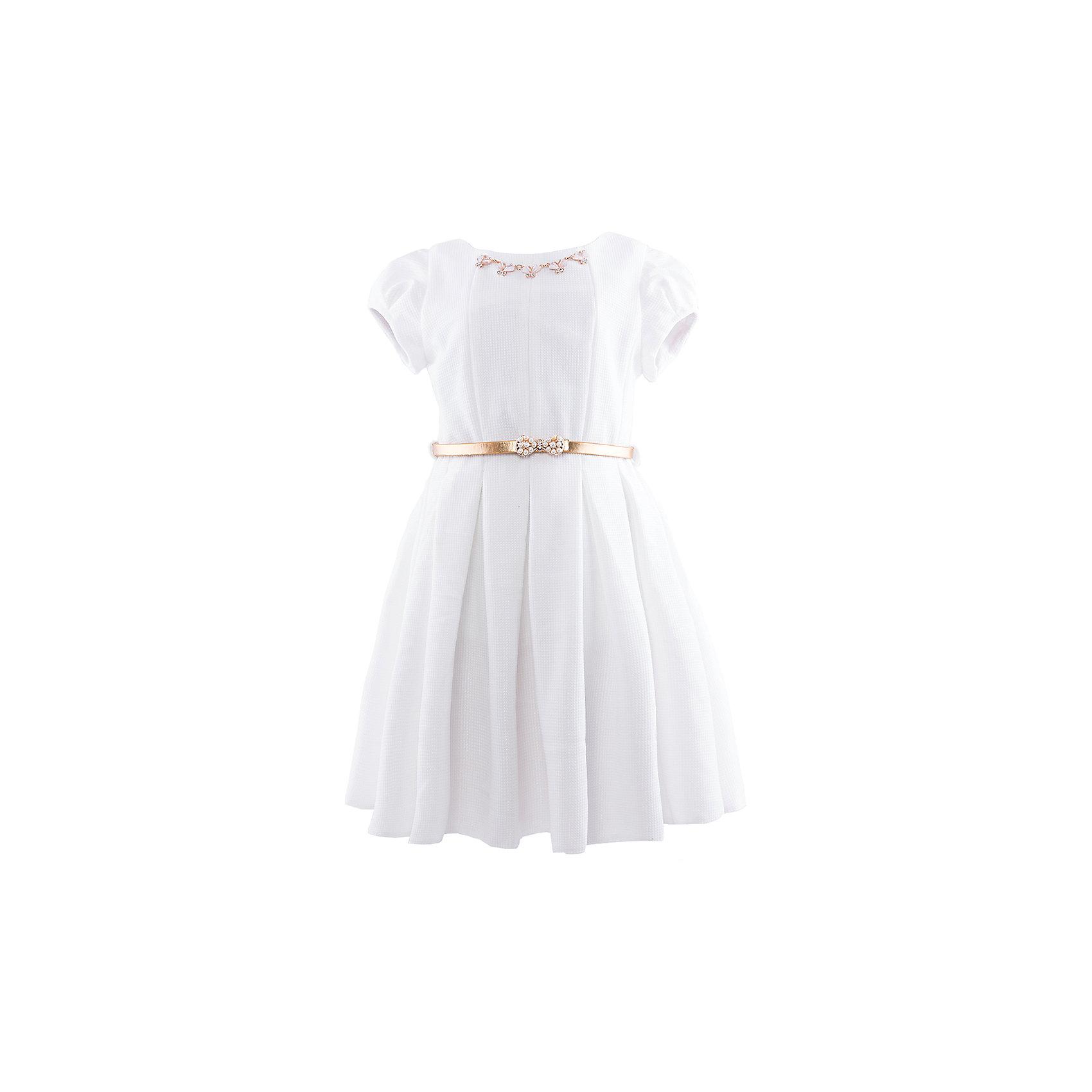 Нарядное платье ВенераНарядное платье для девочки. Платье с золотым поясом, и бусами со стразами.  50% полиэстр, 50% хлопок<br><br>Ширина мм: 236<br>Глубина мм: 16<br>Высота мм: 184<br>Вес г: 177<br>Цвет: белый<br>Возраст от месяцев: 48<br>Возраст до месяцев: 60<br>Пол: Женский<br>Возраст: Детский<br>Размер: 104/110,110/116,116/122,122/128<br>SKU: 4452447