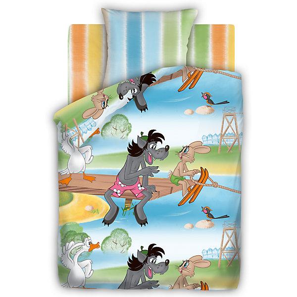 Комплект Догони меня 1,5-спальный, СоюзмультфильмДетское постельное бельё<br>С комплектом постельного белья Догони меня, Союзмультфильм, Ваш ребенок с удовольствием будет укладываться в свою кроватку и видеть чудесные сказочные сны. Комплект выполнен по мотивам всеми любимого отечественного мультфильма Ну, погоди! и украшен<br>изображениями его популярных персонажей - Волка и Зайца. Материал представляет собой качественную плотную бязь, очень комфортную и приятную на ощупь. Ткань отвечает всем экологическим нормам безопасности, дышащая, гипоаллергенная, не нарушает естественные<br>процессы терморегуляции. При стирке белье не линяет, не деформируется и не теряет своих красок даже после многочисленных стирок.<br><br>Дополнительная информация:<br><br>- В комплекте: 1 наволочка, 1 пододеяльник и 1 простыня.<br>- Размер комплекта: полутораспальный.<br>- Тип ткани: бязь (100% хлопок).<br>- Плотность ткани: 115 г/м.<br>- Размер пододеяльника: 215 х 143 см.<br>- Размер наволочки: 70 х 70 см.<br>- Размер простыни: 214 х 150 см.<br>- Размер упаковки: 30 х 7 х 40 см.<br>- Вес: 1,4 кг. <br><br>Комплект Догони меня 1,5-спальный, Союзмультфильм, можно приобрести в нашем интернет-магазине.<br><br>Ширина мм: 200<br>Глубина мм: 60<br>Высота мм: 280<br>Вес г: 800<br>Возраст от месяцев: 36<br>Возраст до месяцев: 120<br>Пол: Унисекс<br>Возраст: Детский<br>SKU: 4463250