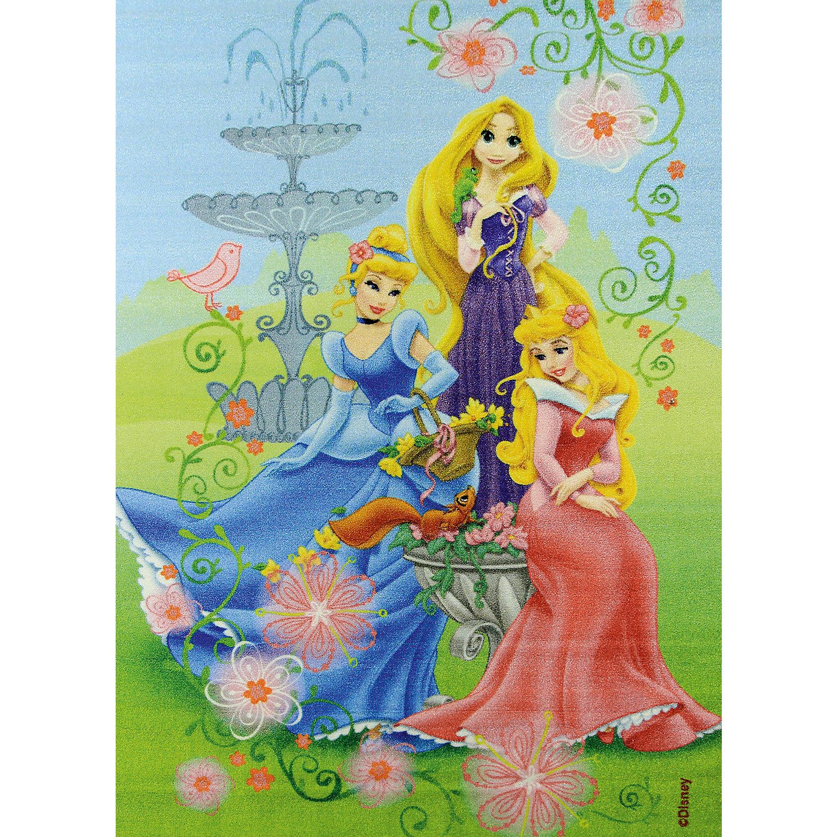 """Ковер """"В королевском саду"""" 133*195 см, Принцессы Дисней от myToys"""
