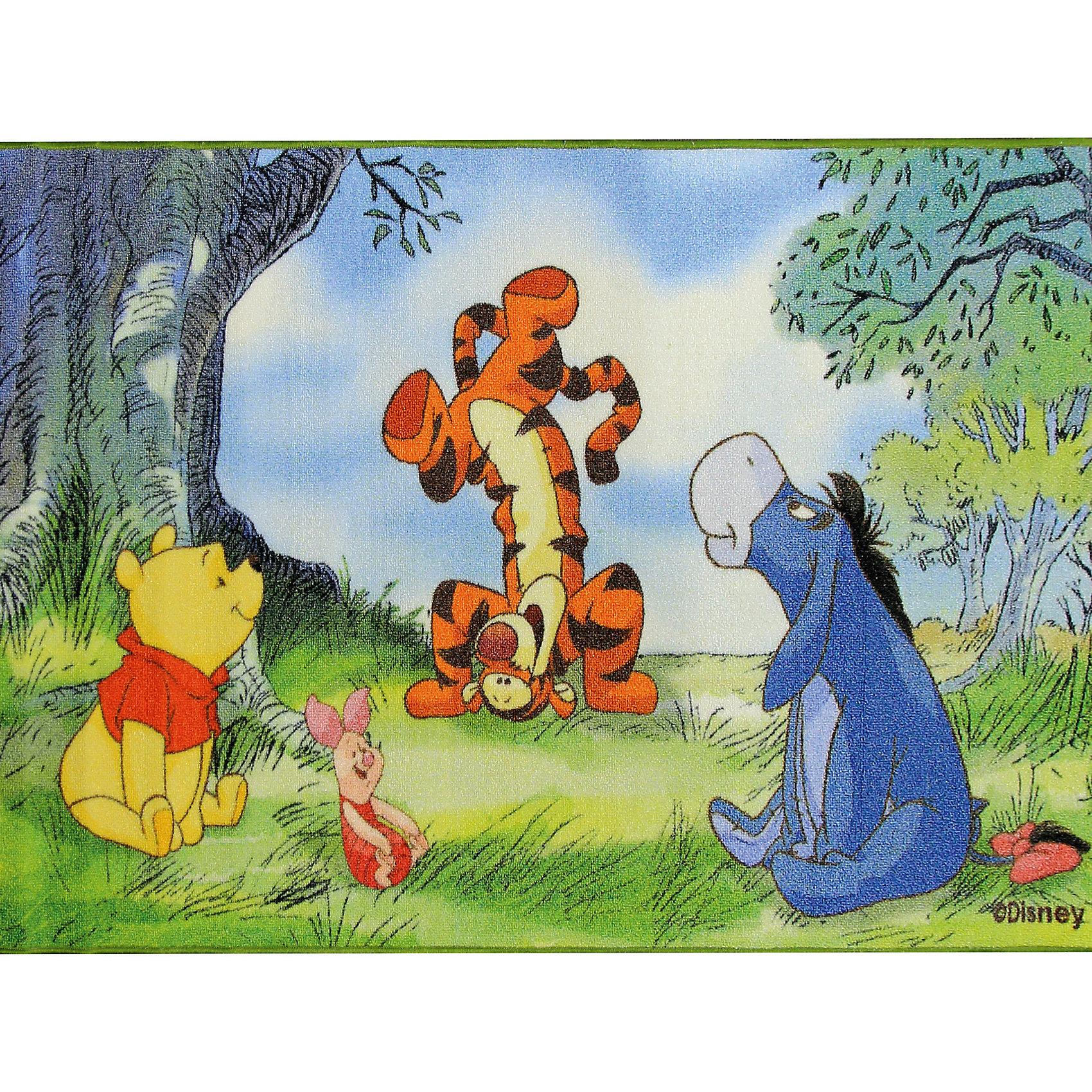 Ковер В лесу 80*133 см, Винни Пух ДиснейКовер В лесу 80*133 см, Винни Пух Дисней - яркий красочный ковер, за которым легко ухаживать сделает комнату уютной вашего ребенка.<br>Позитивный качественный детский ковёр, коллекции Disney, с героями знаменитых диснеевских мультфильмов о приключениях Винни Пуха и его друзей, украсит интерьер детской комнаты и наполнит мир вашего ребенка яркими и живыми красками. Детские ковры Disney очень практичны, изготовлены из безопасных и высококачественных синтетических материалов, стойки к истиранию и не выгорают. По краям ковры аккуратно обшиты. Полиамидный ворс не впитывает влагу, что существенно облегчает уход за изделием, а латексная основа не скользит по полу. Небольшой размер и вес позволит без труда перемещать ковер в разные места комнаты и легко производить уборку под ковром.<br><br>Дополнительная информация:<br><br>- Размер: 80х133 см.<br>- Высота ворса: 4 мм.<br>- Вес ковра: 1,3 кг/м2<br>- Состав ворса: 100% полиамид<br>- Состав основы: гелиевая<br>- Цвет: разноцветный<br>- Вид производства: машинное<br><br>Ковер В лесу 80*133 см, Винни Пух Дисней можно купить в нашем интернет-магазине.<br><br>Ширина мм: 200<br>Глубина мм: 200<br>Высота мм: 800<br>Вес г: 1277<br>Возраст от месяцев: 36<br>Возраст до месяцев: 120<br>Пол: Унисекс<br>Возраст: Детский<br>SKU: 4466026