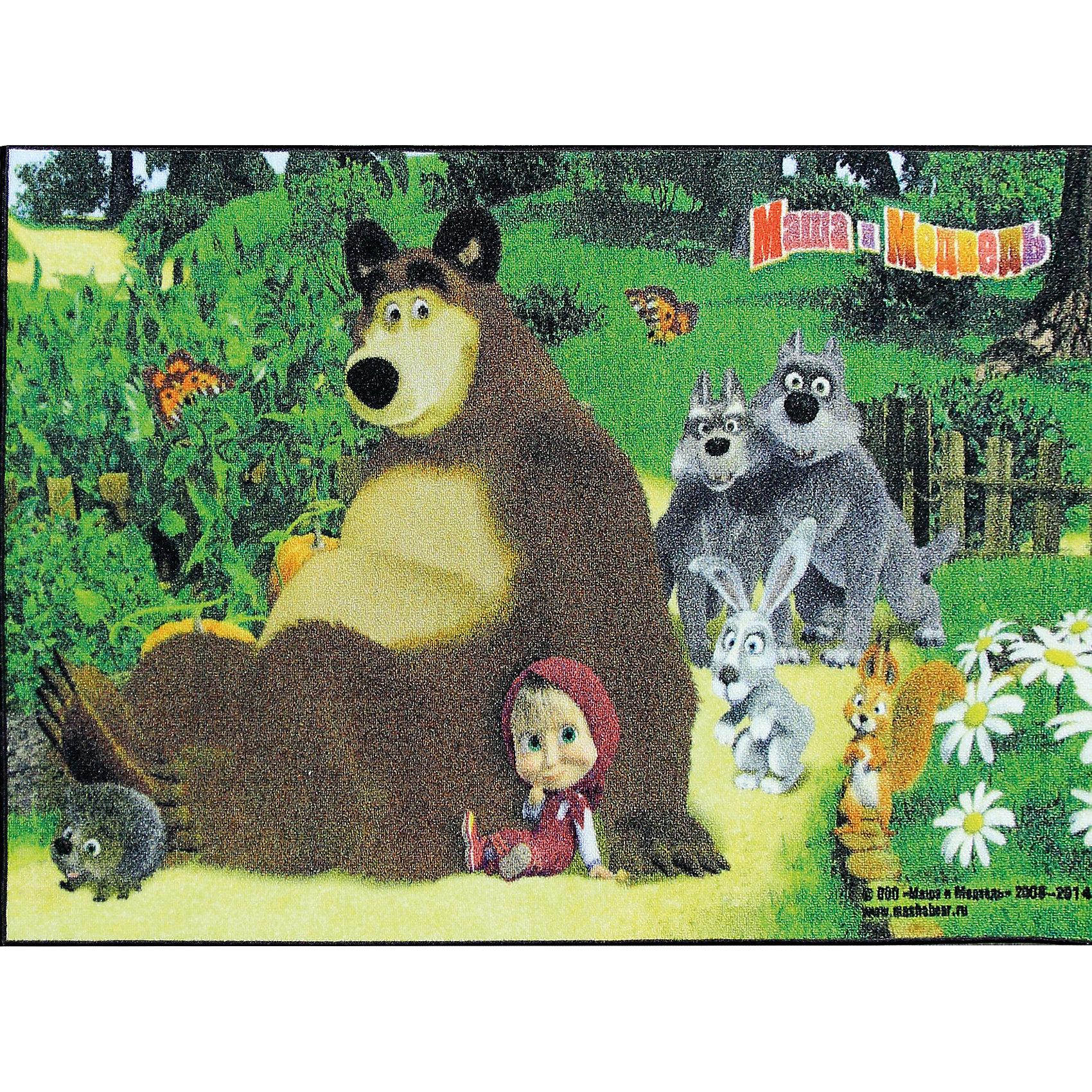 Ковер Маша и Медведь 80*133 смКовер Маша и Медведь 80*133 см – яркий красочный ковер, за которым легко ухаживать сделает уютной комнату вашего ребенка.<br>Позитивный качественный детский ковёр с изображением сюжета из мультсериала «Маша и Медведь» украсит интерьер детской комнаты и наполнит мир вашего ребенка яркими и живыми красками. Ковер очень практичный, изготовлен из безопасных и высококачественных синтетических материалов, стойкий к истиранию и не выгорает. Пыль и грязь не забивается глубоко внутрь ворса, что существенно облегчает уход за изделием, а латексная основа не скользит по полу. По краям ковер аккуратно обшит. Небольшой размер и вес позволит без труда перемещать ковер в разные места комнаты и легко производить уборку под ковром.<br><br>Дополнительная информация:<br><br>- Размер: 80х133 см.<br>- Высота ворса: 5 мм.<br>- Вес ковра: 1,3 кг/м2<br>- Плотность ворса: 290000 точек на м?<br>- Состав ворса: 100% полиамид<br>- Состав основы: гелиевая<br>- Цвет: разноцветный, зеленый<br>- Вид производства: машинное<br><br>Ковер Маша и Медведь 80*133 см можно купить в нашем интернет-магазине.<br><br>Ширина мм: 200<br>Глубина мм: 200<br>Высота мм: 800<br>Вес г: 1277<br>Возраст от месяцев: 36<br>Возраст до месяцев: 120<br>Пол: Унисекс<br>Возраст: Детский<br>SKU: 4466034