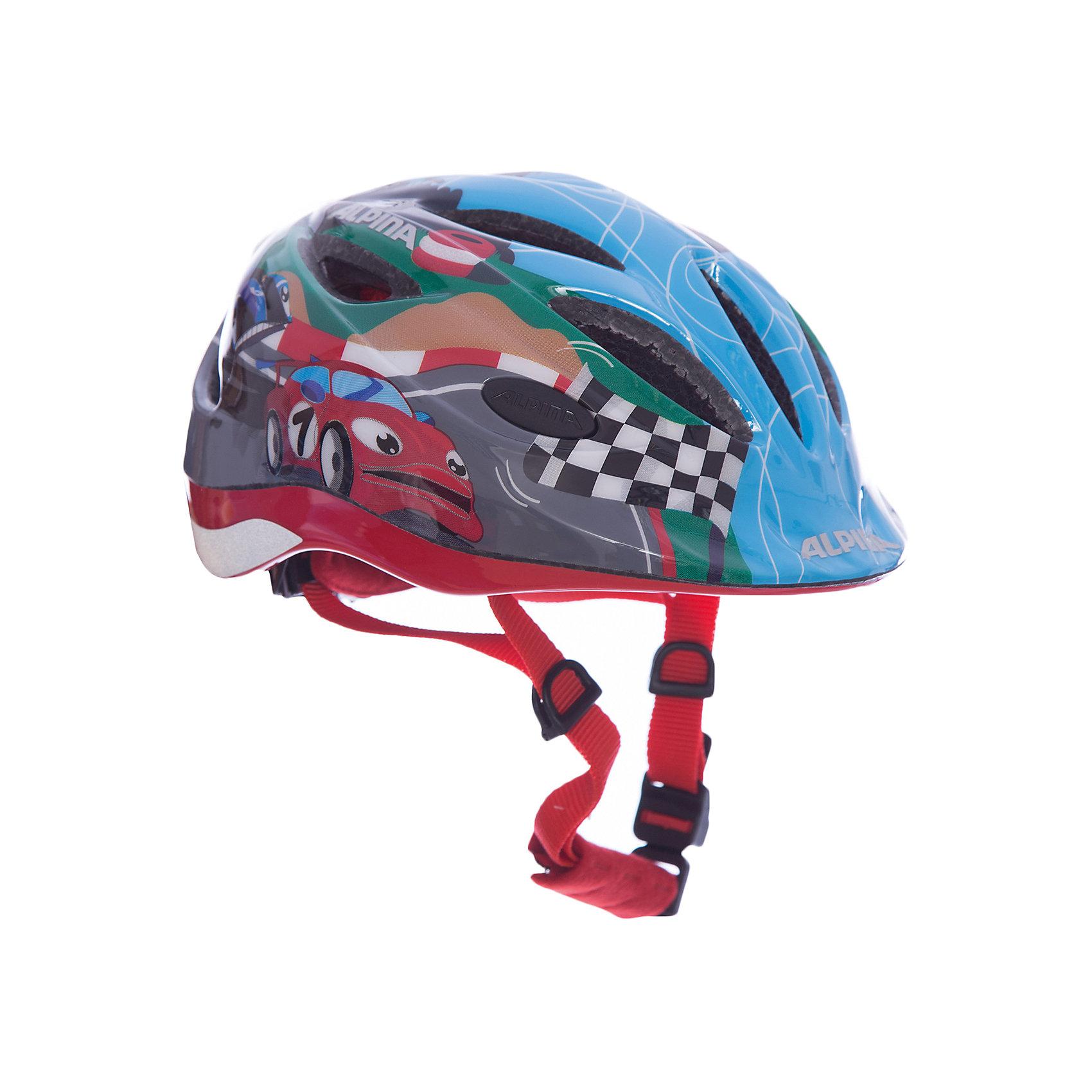 Летний шлем ALPINA Gamma 2.0 Flash racingЗащита, шлемы<br><br><br>Ширина мм: 295<br>Глубина мм: 223<br>Высота мм: 170<br>Вес г: 484<br>Цвет: узорчатый<br>Возраст от месяцев: 12<br>Возраст до месяцев: 36<br>Пол: Мужской<br>Возраст: Детский<br>Размер: 46-51,51-56<br>SKU: 4467443