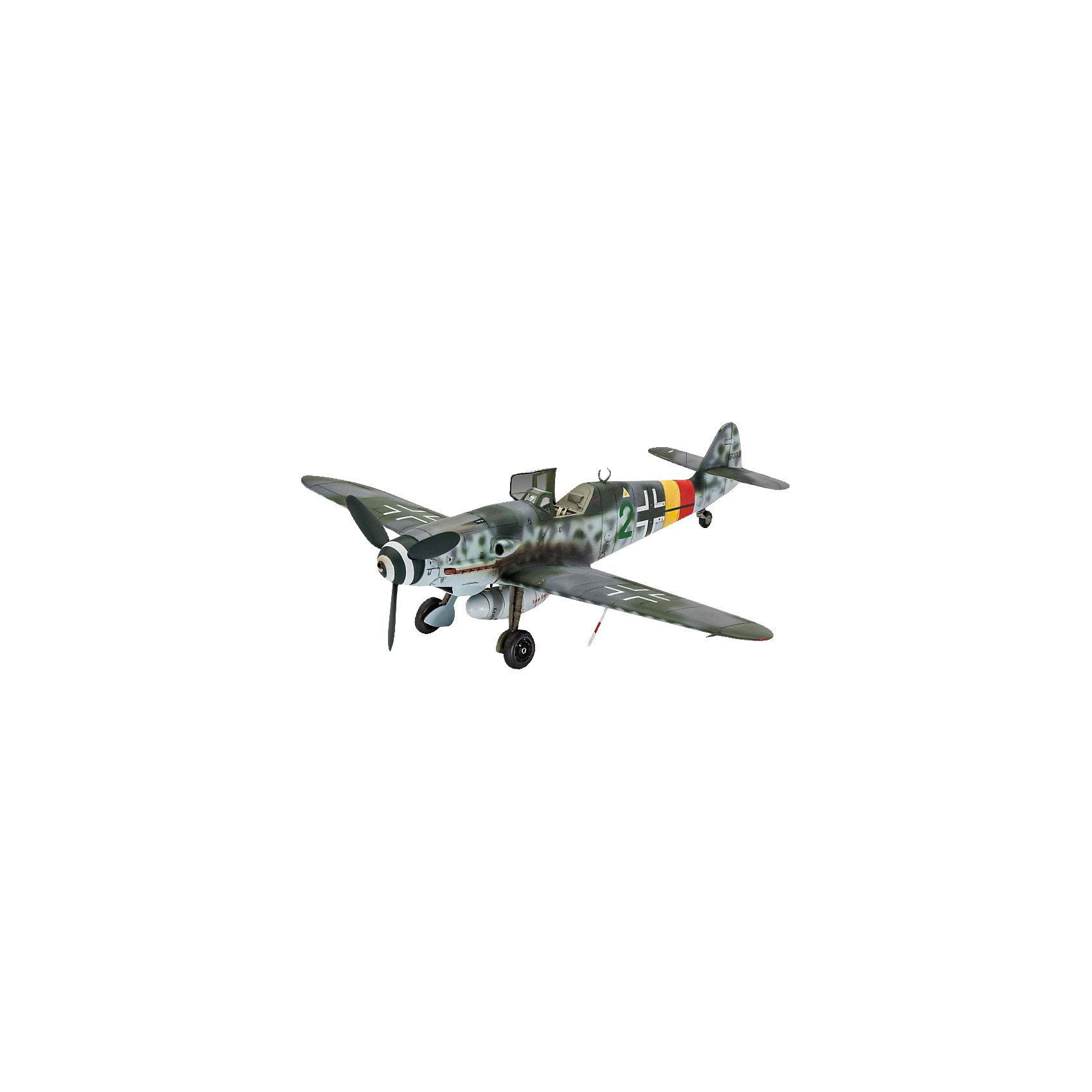 Истребитель Мессершмитт Bf.109 G-10Модели для склеивания<br>Сборная модель немецкого истребителя Messerschmitt Bf 109 G-10 времен Второй мировой . <br>Детали самолета изготовлены из пластика. Их необходимо самостоятельно собрать. Для этого рекомендуется использовать клей для пластика. После этого модель необходимо будет покрасить. Для этой цели лучше использовать акриловую или эмалевую краску Ревелл. Все расходные материалы и инструменты приобретаются отдельно. В набор они не входят. <br>Масштаб модели 1/48<br>Длина модели в собранном виде: 19 сантиметров <br>Размах крыльев: 20 сантиметров  <br>Количество деталей: 40 <br>Декаль для постройки модели в версии   Messerschmitt Bf 109 G-10, IV./JG301, Stendal, Весна 1945 <br>Модель рекомендуется для взрослых и детей в возрасте от 10 лет<br><br>Ширина мм: 316<br>Глубина мм: 188<br>Высота мм: 50<br>Вес г: 208<br>Возраст от месяцев: 120<br>Возраст до месяцев: 192<br>Пол: Мужской<br>Возраст: Детский<br>SKU: 4470133