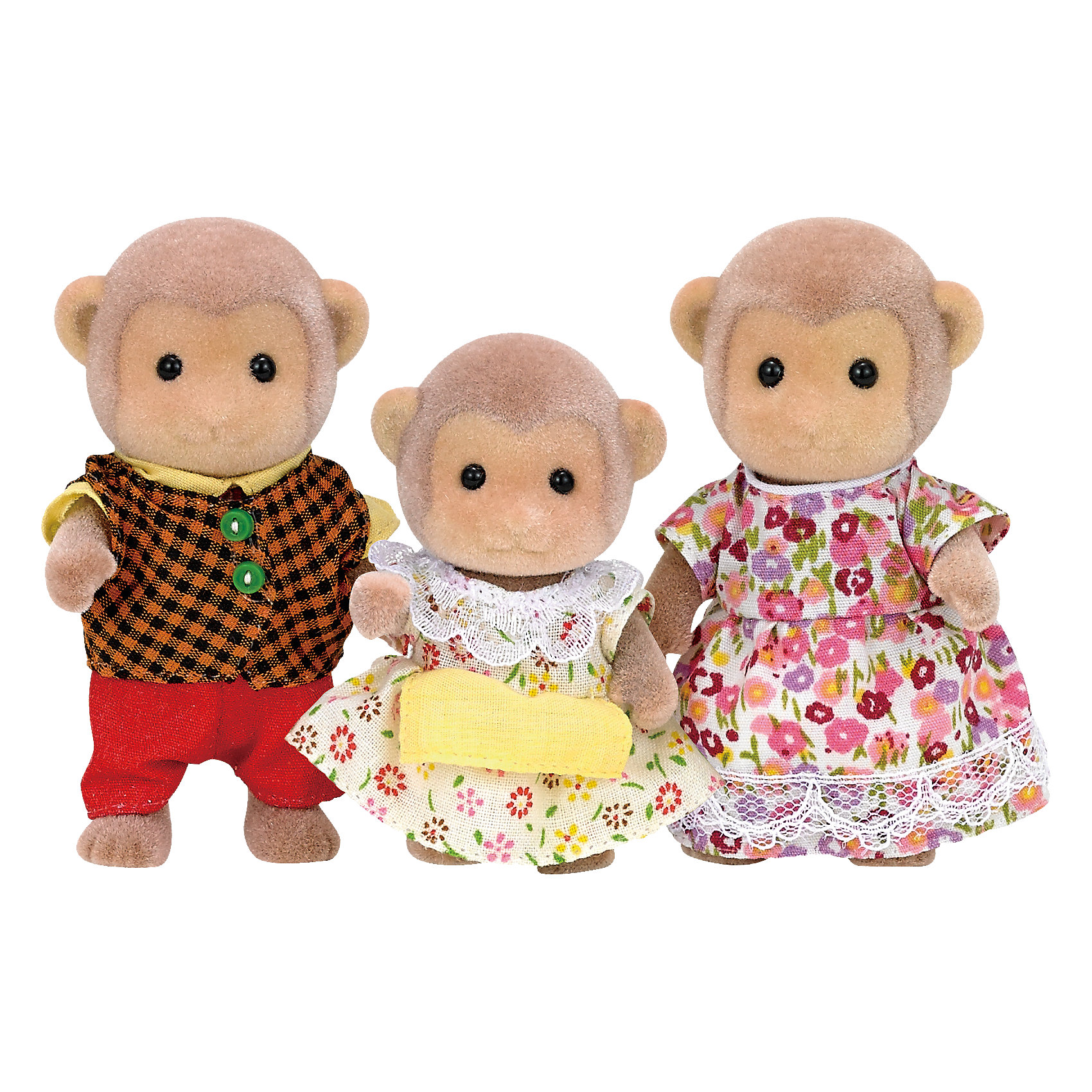 - Набор Семья Обезьян, 3 фигурки, Sylvanian Families игровая фигурка sylvanian families набор семья белых мышей