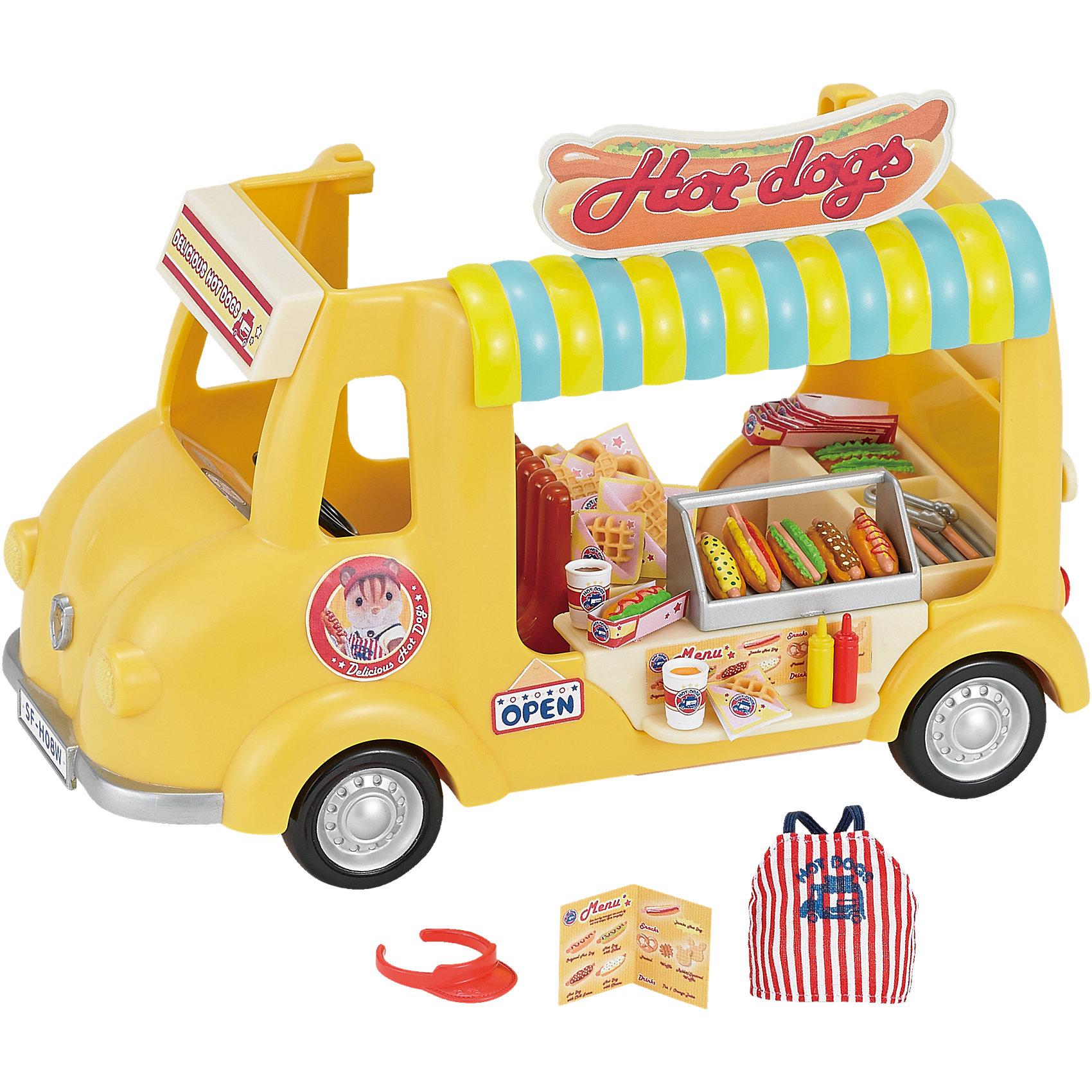- Набор Фургон с хот-догами, Sylvanian Families набор холодильник с продуктами sylvanian families