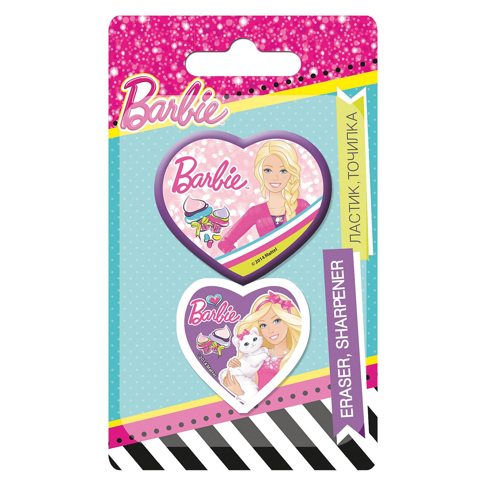 Академия групп Канцелярский набор (точилка, ластик), Barbie академия групп набор канцелярский в подарочной коробке человек паук