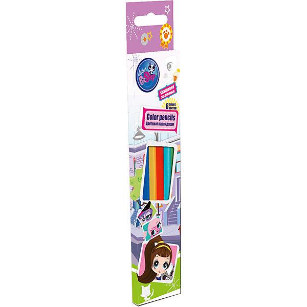 Цветные карандаши 6 шт, Littlest Pet ShopLittlest Pet Shop<br>Цветные карандаши 6 шт, Littlest Pet Shop - эти карандаши прекрасно подходят для творческих занятий Вашего ребёнка!<br>Цветные карандаши Littlest Pet Shop откроют юным художникам новые горизонты для творчества, а также помогут развить мелкую моторику рук, цветовое восприятие, фантазию и воображение. В набор входят 6 заточенных карандашей, которые имеют деревянный корпус с лаковой отделкой. Карандаши обладают яркими цветами. Мягкий и прочный грифель и не царапает бумагу. Они станут прекрасным подарком для вашего ребенка и порадуют отличным качеством. Коробка оформлена в стиле известного мультсериала Littlest Pet Shop.<br><br>Дополнительная информация:<br><br>- В наборе: 6 цветных заточенных карандашей<br>- Длина: 17,8 см.<br>- Материал корпуса: древесина тополь<br>- Диаметр грифеля: 2,65 мм.<br>- Упаковка: картонная коробка с европодвесом<br>- Размер упаковки: 21 х 4,5 х 1 см.<br>- Вес: 28 гр.<br><br>Цветные карандаши 6 шт, Littlest Pet Shop можно купить в нашем интернет-магазине.<br>Ширина мм: 45; Глубина мм: 10; Высота мм: 210; Вес г: 28; Возраст от месяцев: 48; Возраст до месяцев: 84; Пол: Женский; Возраст: Детский; SKU: 4489544;