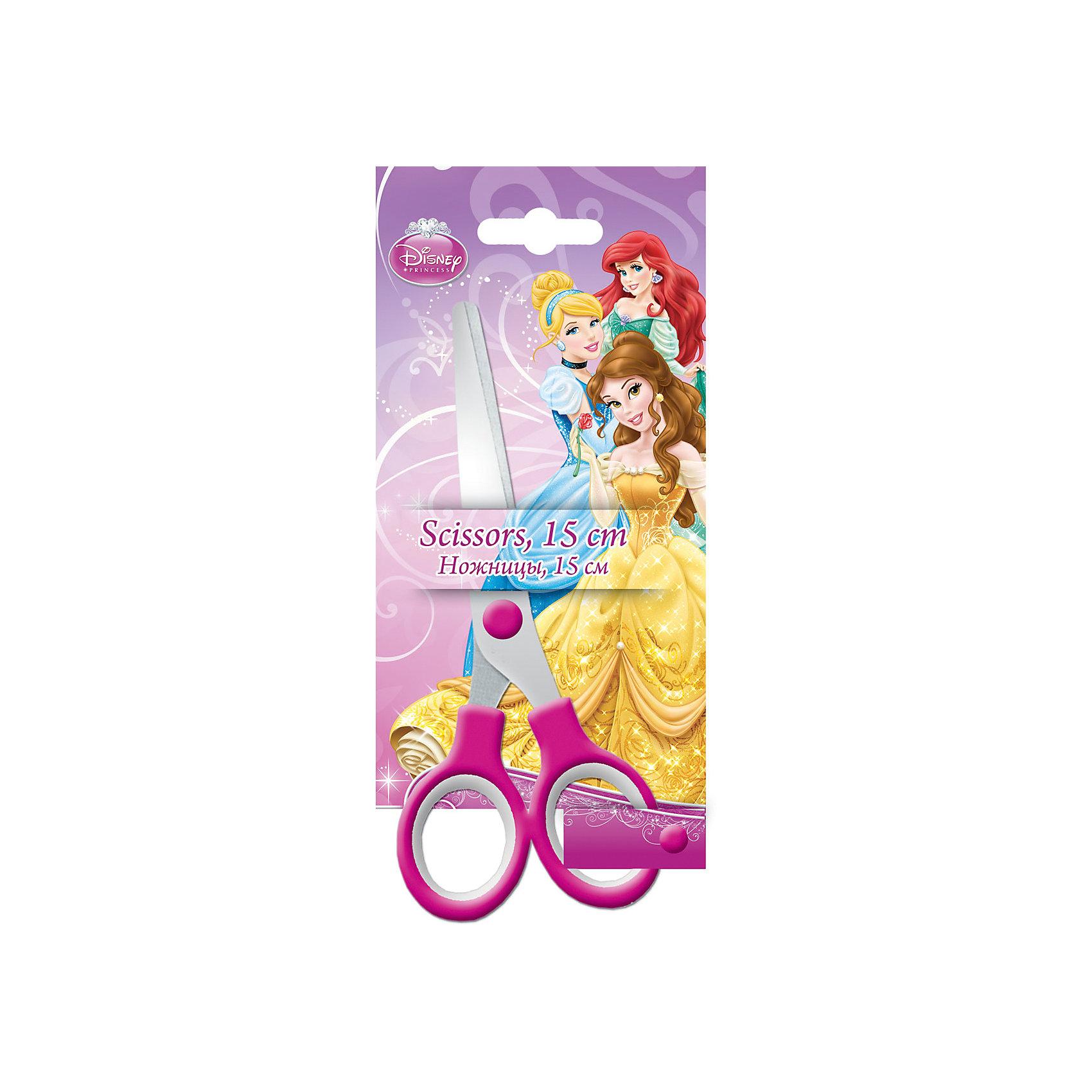 Ножницы 15 см, Принцессы ДиснейНожницы, Принцессы Дисней, прекрасно подойдут для резки бумаги, картона, ткани и других материалов. Ножницы имеют эргономичные пластиковые ручки и безопасные закругленные концы. На прочном и качественном лезвии имеется гравировка в виде логотипа Disney Princess.<br>Упаковка (блистер с европодвесом) украшена изображениями волшебных принцесс из популярных диснеевских мультфильмов.<br><br>Дополнительная информация:<br><br>- Материал: нержавеющая сталь, пластик. <br>- Размер ножниц: 15 см.<br>- Размер упаковки: 18 x 18 х 1 см.<br>- Вес: 41 гр.<br><br>Ножницы 15 см, Принцессы Дисней, можно купить в нашем интернет-магазине.<br><br>Ширина мм: 175<br>Глубина мм: 80<br>Высота мм: 0<br>Вес г: 41<br>Возраст от месяцев: 48<br>Возраст до месяцев: 84<br>Пол: Женский<br>Возраст: Детский<br>SKU: 4489574