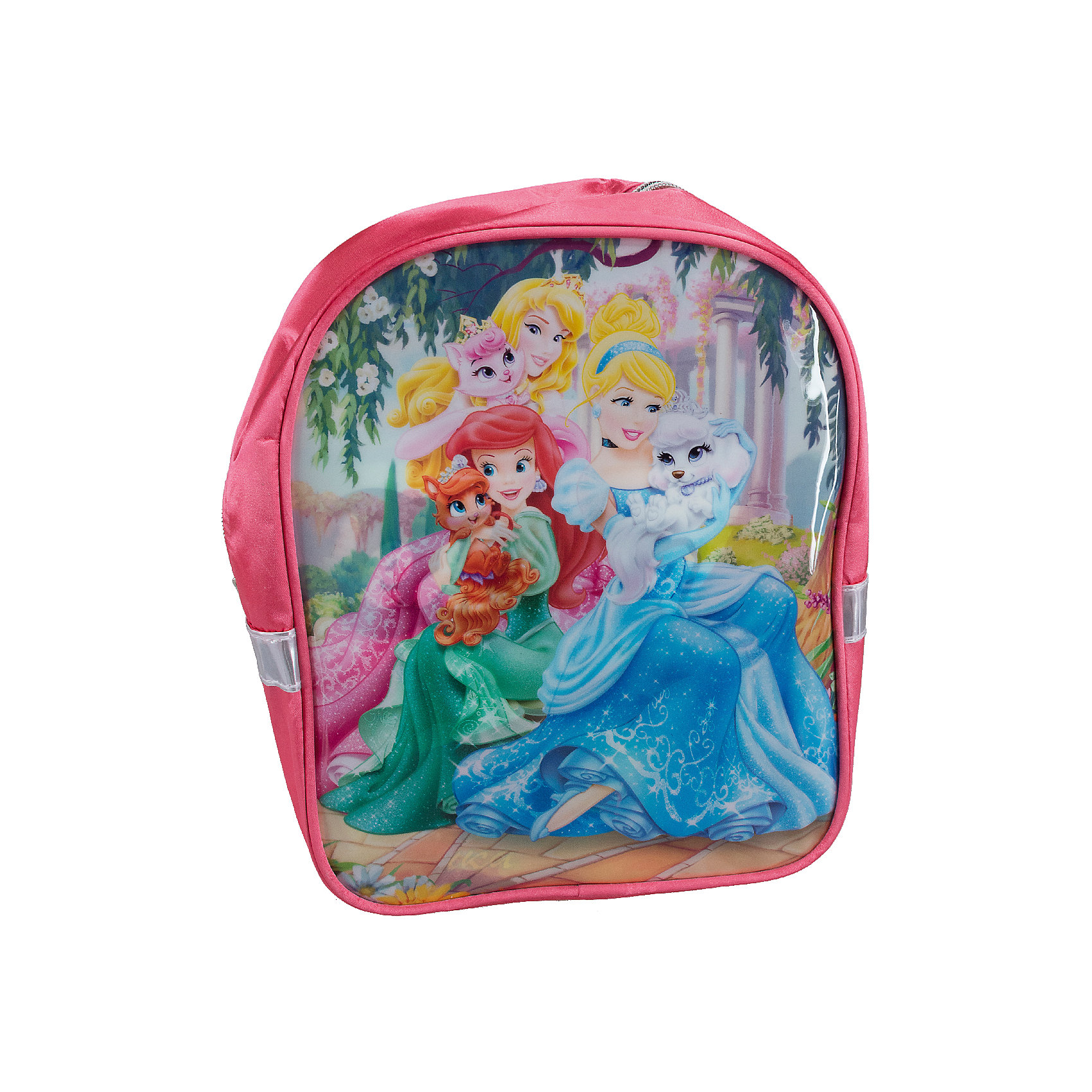 Дошкольный рюкзак, Принцессы ДиснейДошкольный рюкзак, Принцессы Дисней - удобный нарядный рюкзачок, который замечательно подойдет для прогулок, поездок и путешествий. Рюкзак выполнен из прочного долговечного материала и имеет привлекательный для девочек дизайн с ярко-розовой расцветкой и изображениями волшебных принцесс из популярных диснеевских мультфильмов. Внутри одно большое отделение на молнии. Рюкзак оснащен удобными регулируемыми лямками и текстильной ручкой для переноски в руках. Светоотражающие элементы обеспечивают безопасность в темное время суток.<br><br>Дополнительная информация:<br><br>- Материал: полиэстер.  <br>- Размер: 27 х 22,5 х 9 см.<br>- Вес: 191 гр.<br><br>Дошкольный рюкзак 27*22,5*9 см., Принцессы Дисней, можно купить в нашем интернет-магазине.<br><br>Ширина мм: 90<br>Глубина мм: 225<br>Высота мм: 270<br>Вес г: 191<br>Возраст от месяцев: 48<br>Возраст до месяцев: 84<br>Пол: Женский<br>Возраст: Детский<br>SKU: 4489589