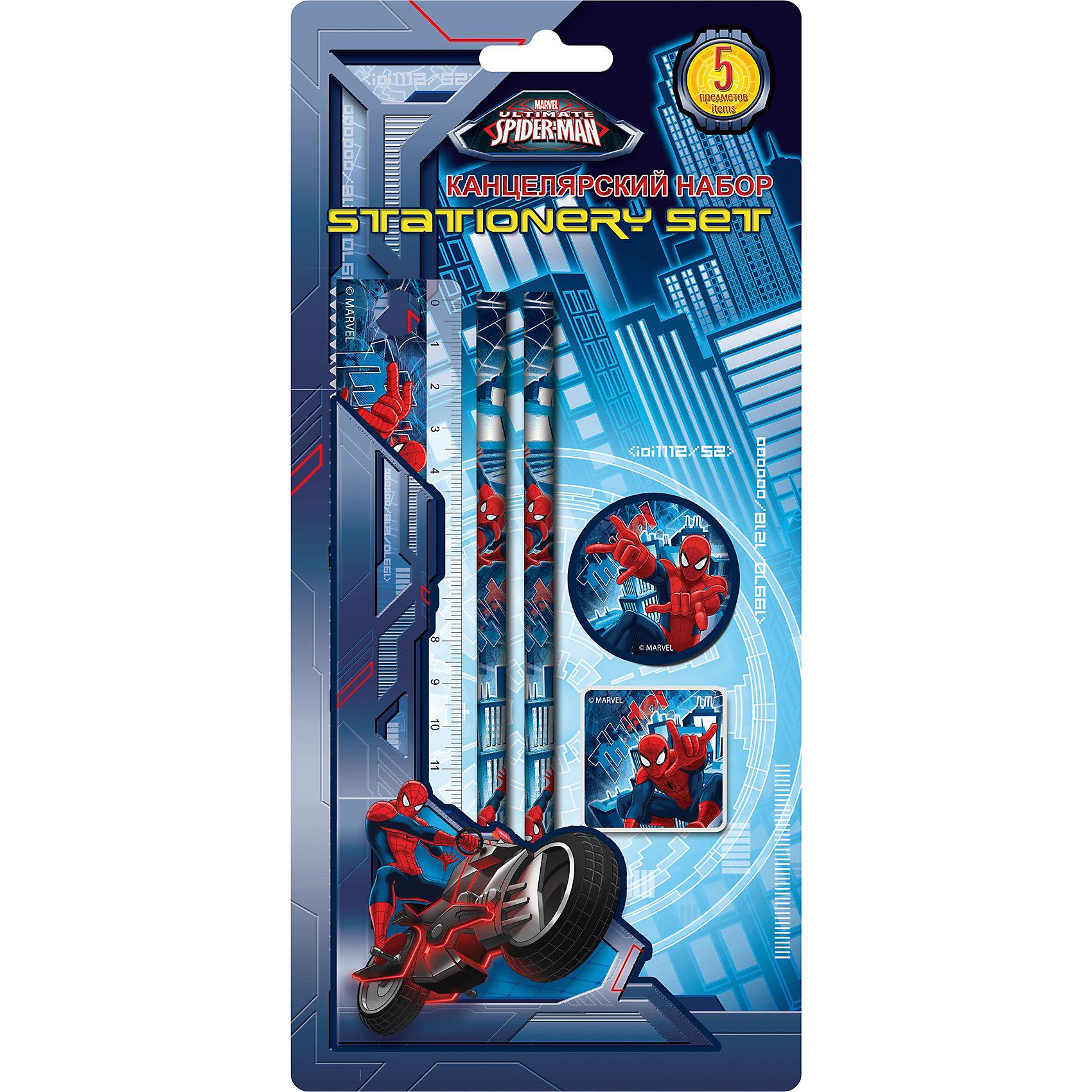 Академия групп Канцелярский набор (5 предметов), Человек-Паук академия групп набор канцелярский в подарочной коробке человек паук