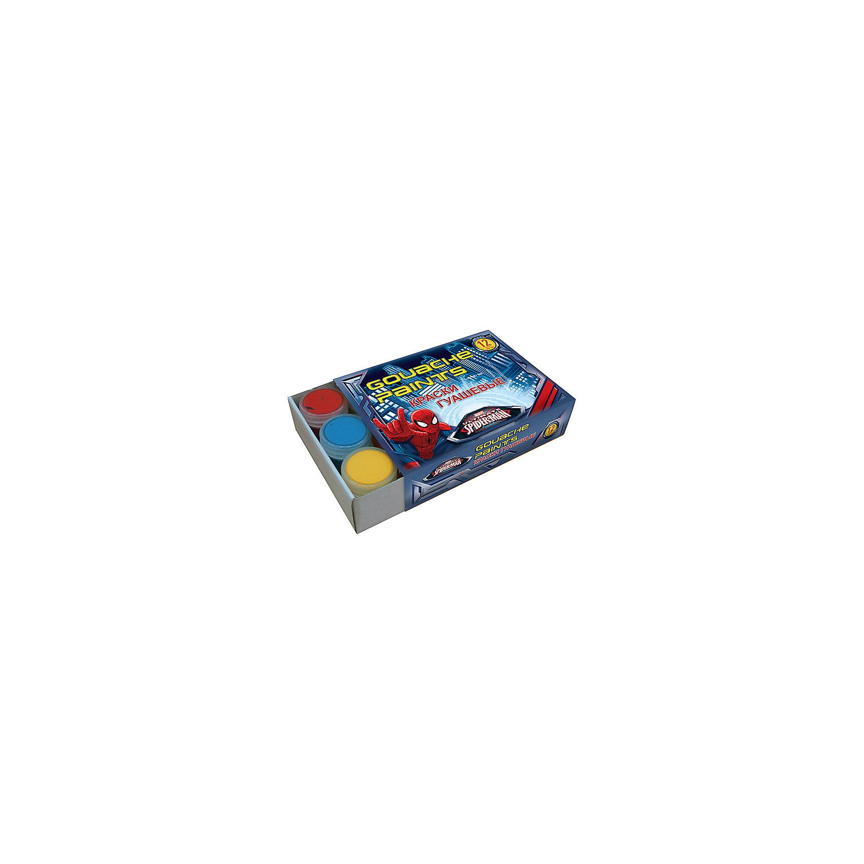 Академия групп Гуашь 12 цветов, Человек-Паук академия групп набор канцелярский в подарочной коробке человек паук