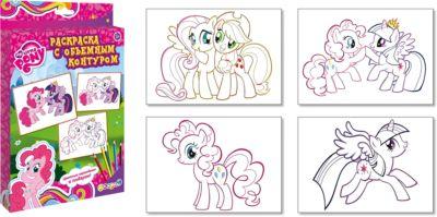 Академия групп Раскраска с объемным контуром, My Little Pony