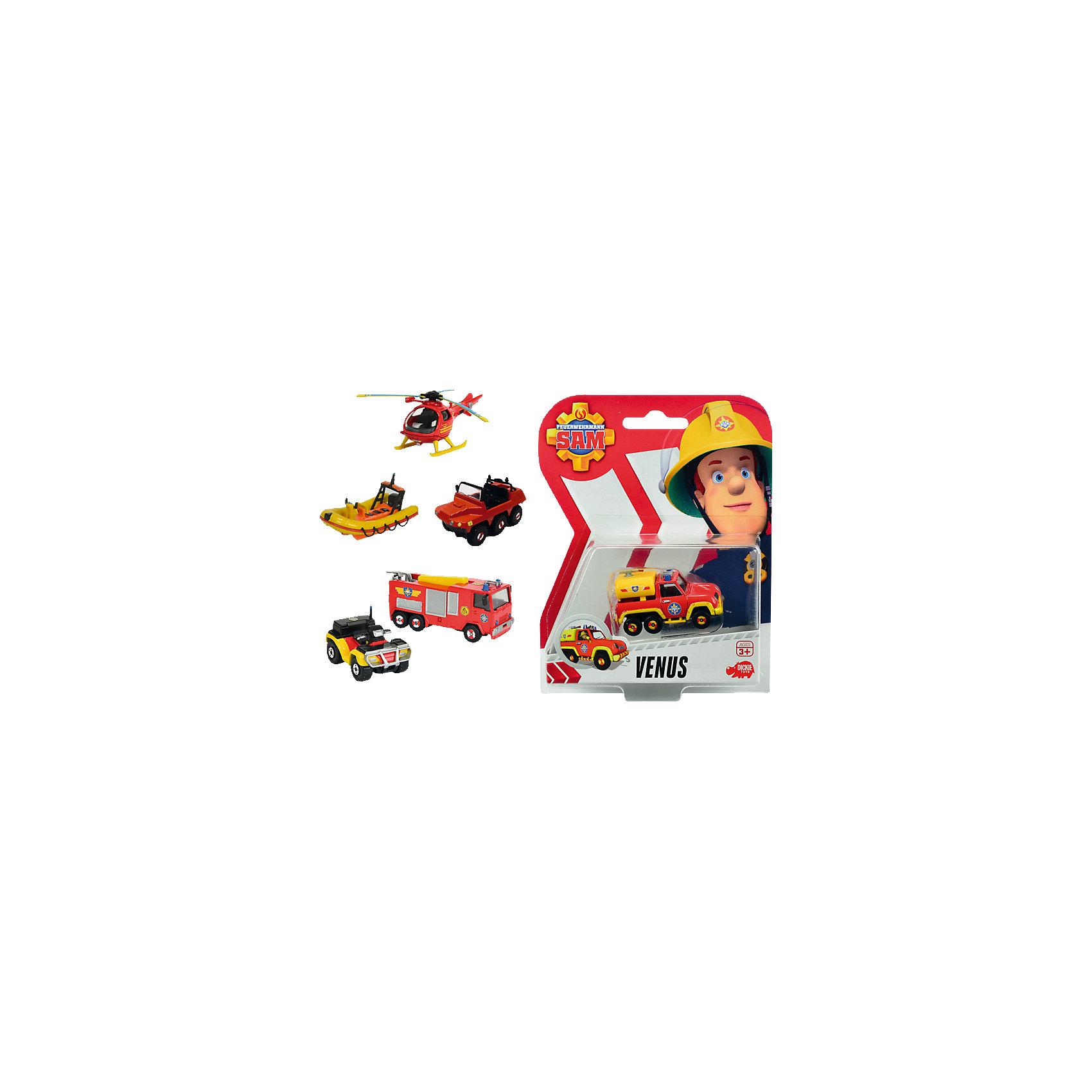 Машинка на блистере, Пожарный Сэм, DickieМашинка на блистере, Пожарный Сэм, Dickie (Дики) – эта игрушка, несомненно, придется по душе вашему мальчику и не позволит ему скучать.<br>Машинки из мультфильма Пожарный Сэм от Dickie (Дики) выполнены из качественного безопасного материала ярких цветов. В ассортименте представлены шесть транспортных средств. Модели изготовлены в соответствии с внешним видом настоящих служебных машин и вертолетов пожарных и спасателей, что сделает сюжетно-ролевые игры реалистичнее. С машинкой из мультфильма Пожарный Сэм ваш ребенок почувствует себя в роли храброго пожарного или спасателя, и справиться с любыми опасностями!<br><br>Дополнительная информация:<br><br>- Масштаб: 1:64<br>- В комплекте: 1 игрушка<br>- В ассортименте: лодка Neptune (6 см); пожарная машина Jupiter (7,5 см); квадроцикл Mercury (5 см); грузовик Venus (6 см); вертолет Helicopter (8,5 см); шестиколесный автомобиль Hydrus (6,5 см)<br>- Материал: металл<br>- Упаковка: блистер на картоне<br>- Размер упаковки: 14х18х6 см.<br>- Вес: 100 гр.<br>- ВНИМАНИЕ! Данный артикул представлен в разных вариантах исполнения. К сожалению, заранее выбрать определенный вариант невозможно. При заказе нескольких машинок возможно получение одинаковых<br><br>Машинку на блистере, Пожарный Сэм, Dickie (Дики) можно купить в нашем интернет-магазине.<br><br>Ширина мм: 140<br>Глубина мм: 180<br>Высота мм: 60<br>Вес г: 100<br>Возраст от месяцев: 36<br>Возраст до месяцев: 72<br>Пол: Мужской<br>Возраст: Детский<br>SKU: 4490480