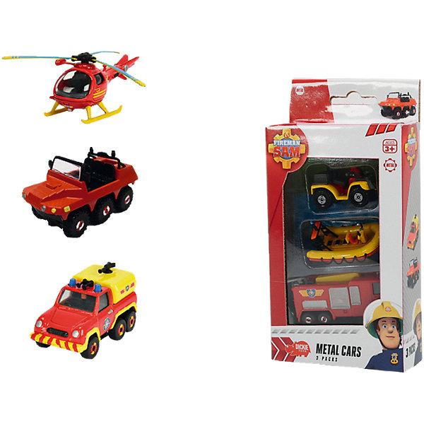 Машинка, 3шт, Пожарный Сэм, DickieМашинки<br>Машинка, 3шт, Пожарный Сэм, Dickie (Дики) – этот набор, несомненно, придется по душе вашему мальчику и не позволит ему скучать.<br>Машинки из мультфильма Пожарный Сэм от Dickie (Дики) изготовлены в соответствии с внешним видом настоящих служебных машин и вертолетов пожарных и спасателей, что сделает сюжетно-ролевые игры реалистичнее. С машинками из мультфильма Пожарный Сэм ваш ребенок почувствует себя в роли храброго пожарного или спасателя, и справиться с любыми опасностями!<br><br>Дополнительная информация:<br><br>- Масштаб: 1:64<br>- В комплекте: 3 игрушки<br>- В ассортименте наборы из транспортных средств: лодка Neptune (6 см); пожарная машина Jupiter (7,5 см); квадроцикл Mercury (5 см); грузовик Venus (6 см); вертолет Helicopter (8,5 см); шестиколесный автомобиль Hydrus (6,5 см)<br>- Материал: металл<br>- Размер упаковки: 11 x 21 x 5 см.<br>- ВНИМАНИЕ! Данный артикул представлен в разных вариантах исполнения. К сожалению, заранее выбрать определенный вариант невозможно. При заказе нескольких наборов возможно получение одинаковых<br><br>Машинку, 3шт, Пожарный Сэм, Dickie (Дики) можно купить в нашем интернет-магазине.<br>Ширина мм: 110; Глубина мм: 210; Высота мм: 50; Вес г: 100; Возраст от месяцев: 36; Возраст до месяцев: 72; Пол: Мужской; Возраст: Детский; SKU: 4490481;