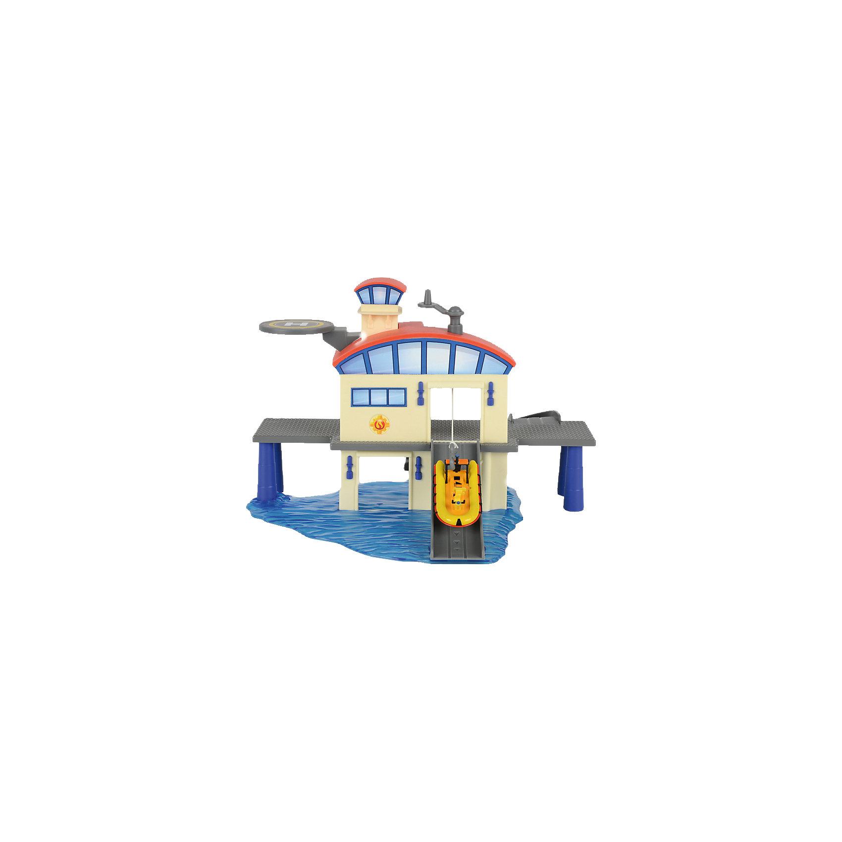 - Морской гараж с лодкой, Пожарный Сэм, Dickie купить гараж в москве путевой проезд