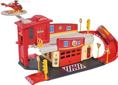 - Пожарный гараж с вертолетом, Пожарный Сэм, Dickie фото-1