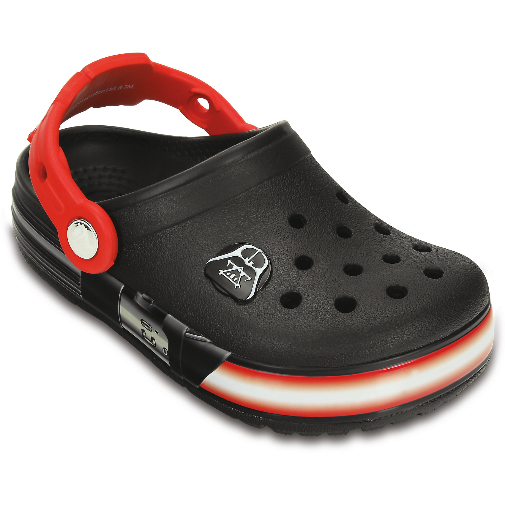 crocs Сабо Kids' CrocsLights Star Wars Darth Vader Clog для мальчика Crocs crocs сабо electro kids