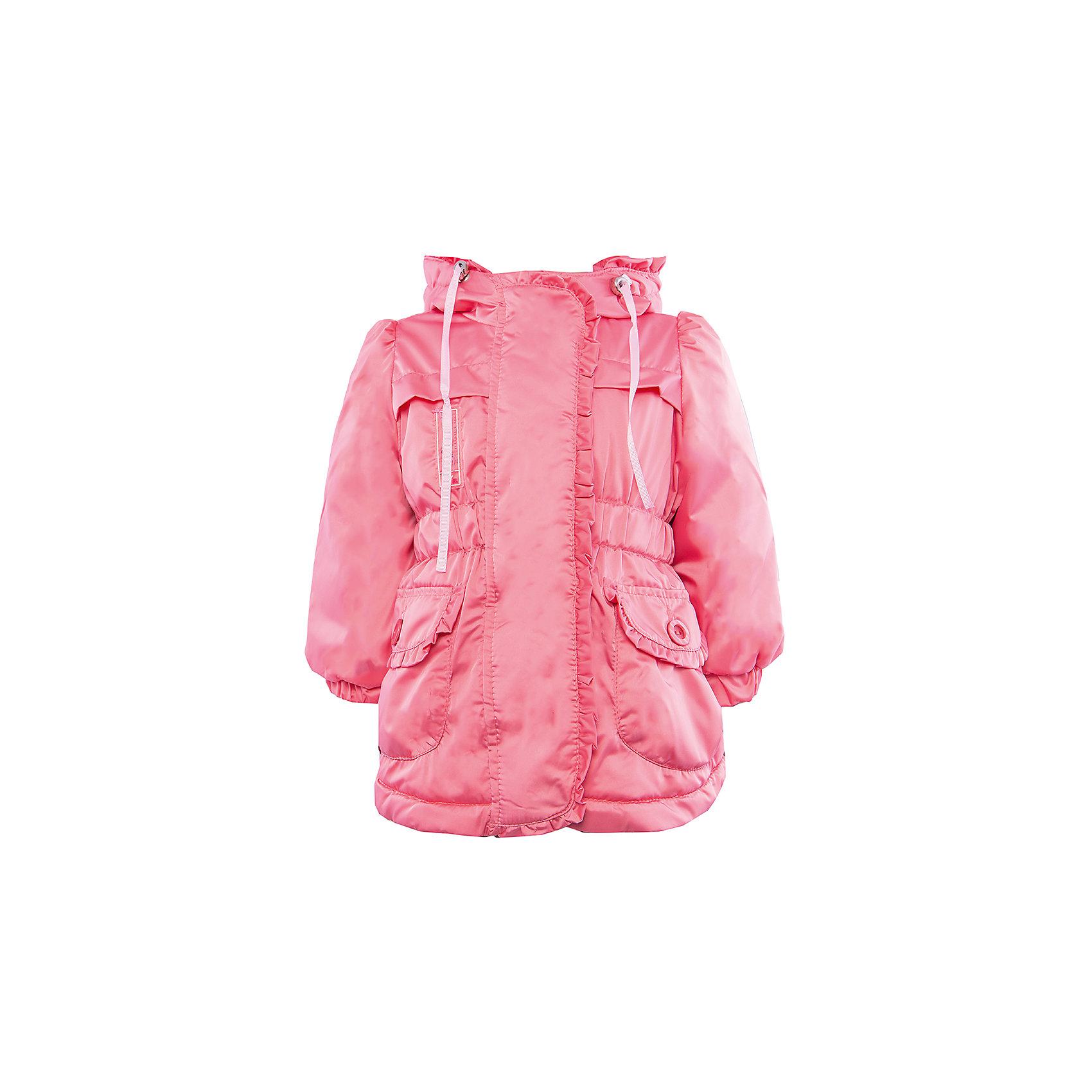 Куртка для девочки АртельВерхняя одежда<br>Куртка для девочки от торговой марки Артель &#13;<br>&#13;<br>Модная куртка отлично смотрится и хорошо сидит. Изделие выполнено из качественных материалов, имеет удобные карманы и капюшон. Отличный вариант для переменной погоды межсезонья!&#13;<br>Одежда от бренда Артель – это высокое качество по приемлемой цене и всегда продуманный дизайн. &#13;<br>&#13;<br>Особенности модели: &#13;<br>- цвет - розовый;&#13;<br>- наличие карманов;&#13;<br>- наличие капюшона;&#13;<br>- ветрозащитный клапан;&#13;<br>- отделка рюшами;&#13;<br>- застежка-молния.&#13;<br>&#13;<br>Дополнительная информация:&#13;<br>&#13;<br>Состав: &#13;<br>- верх: F Multi;&#13;<br>- подкладка: хлопок интерлок;<br>- утеплитель: термофайбер 100гр.<br><br>&#13;<br>Температурный режим: &#13;<br>от -10 °C до +10 °C&#13;<br>&#13;<br>Куртку для девочки Артель (Artel) можно купить в нашем магазине.<br><br>Ширина мм: 356<br>Глубина мм: 10<br>Высота мм: 245<br>Вес г: 519<br>Цвет: розовый<br>Возраст от месяцев: 12<br>Возраст до месяцев: 15<br>Пол: Женский<br>Возраст: Детский<br>Размер: 80,86,98,92<br>SKU: 4496000