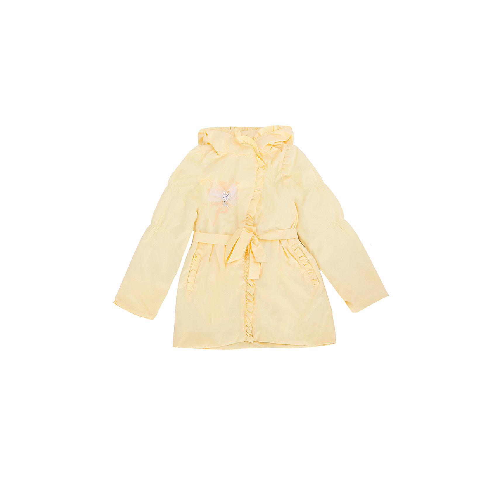 Ветровка для девочки АртельВерхняя одежда<br>Куртка для девочки от торговой марки Артель &#13;<br>&#13;<br>Модная куртка отлично смотрится и хорошо сидит. Изделие выполнено из качественных материалов, имеет удобные карманы и капюшон. Отличный вариант для переменной погоды межсезонья!&#13;<br>Одежда от бренда Артель – это высокое качество по приемлемой цене и всегда продуманный дизайн. &#13;<br>&#13;<br>Особенности модели: &#13;<br>- цвет - желтый;&#13;<br>- наличие карманов;&#13;<br>- наличие капюшона;&#13;<br>- пояс с бантом;&#13;<br>- отделка рюшами;&#13;<br>- застежка-молния.&#13;<br>&#13;<br>Дополнительная информация:&#13;<br>&#13;<br>Состав: &#13;<br>- верх: YSD;&#13;<br>- подкладка: хлопок интерлок, тиси.&#13;<br>&#13;<br>Температурный режим: &#13;<br>от +5 °C до + 20 °C&#13;<br>&#13;<br>Куртку для девочки Артель (Artel) можно купить в нашем магазине.<br><br>Ширина мм: 356<br>Глубина мм: 10<br>Высота мм: 245<br>Вес г: 519<br>Цвет: желтый<br>Возраст от месяцев: 36<br>Возраст до месяцев: 48<br>Пол: Женский<br>Возраст: Детский<br>Размер: 122,116,110,104,128<br>SKU: 4496180