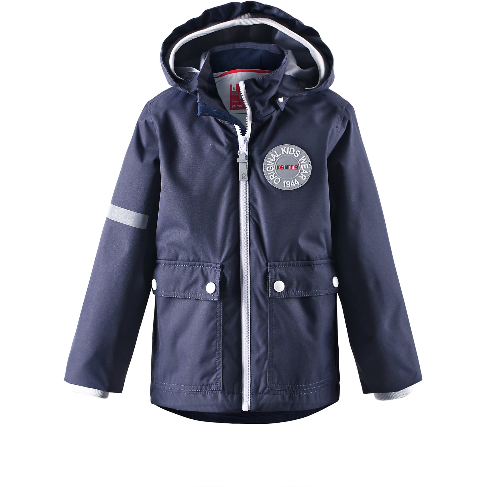 Куртка для мальчика ReimaВ детской демисезонной куртке с рисунком Reima® Anniversary дождь не страшен — все основные швы проклеены, водонепроницаемы. Эта куртка идеально подойдет для ранних весенних дней, ведь на улице все еще может быть холодно. С помощью удобной системы кнопок Play Layers® к этой куртке можно присоединять разнообразную одежду промежуточного слоя Reima®. В холодные дни промежуточный слой подарит вашему ребенку дополнительное тепло и комфорт. Благодаря съемной стеганой подкладке куртку также можно превратить в более легкую весеннюю модель. Большие карманы с клапанами и светоотражающие детали выполнены в ретро-стиле 70-х.<br><br>Дополнительная информация:<br><br>Куртка демисезонная для детей<br>Основные швы проклеены и не пропускают влагу<br>Водоотталкивающий, ветронепроницаемый, «дышащий» и грязеотталкивающий материал<br>Съемная, стеганая подкладка<br>Безопасный, отстегивающийся и регулируемый капюшон<br>Мягкая резинка на кромке капюшона и манжетах<br>Карманы с клапанами<br>Безопасные светоотражающие элементы<br>Состав:<br>100% ПЭ, ПУ-покрытие<br>Уход:<br>Стирать по отдельности, вывернув наизнанку. Застегнуть молнии и липучки. Стирать моющим средством, не содержащим отбеливающие вещества. Полоскать без специального средства. Во избежание изменения цвета изделие необходимо вынуть из стиральной машинки незамедлительно после окончания программы стирки. Сушить при низкой температуре.<br><br>Ширина мм: 356<br>Глубина мм: 10<br>Высота мм: 245<br>Вес г: 519<br>Цвет: синий<br>Возраст от месяцев: 48<br>Возраст до месяцев: 60<br>Пол: Мужской<br>Возраст: Детский<br>Размер: 92,116,134,128,122,104,110,98,140<br>SKU: 4496803