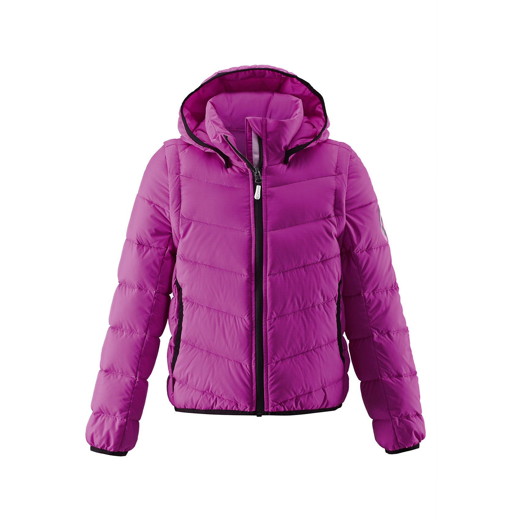 Куртка для девочки ReimaВ одной две — веселей вдвойне! Эта очень легкая, но при этом теплая и практичная слегка удлиненная куртка для подростков будет превосходным выбором для конца зимы и ранней весны. В ней ваша девочка будет тепло и красиво одета, куртка пригодится как для веселых игр во дворе, так и для прогулки по городу. Отстегнув рукава, вы в одно мгновение превратите ее в жилетку! Съемный капюшон безопасен и обеспечивает дополнительную защиту для головы и щечек в ветреный день. Станет идеальным вариантом на каждый день и лучшим другом в турпоходе!<br><br>Дополнительная информация:<br><br>Пуховая куртка для подростков<br>Облегченный материал!<br>Безопасный, съемный капюшон<br>Эластичная резинка на кромке капюшона, манжетах и подоле<br>Отстегивающиеся рукава на молнии<br>Карманы в боковых швах<br>Состав:<br>100% ПА<br>Уход:<br>Стирать по отдельности. Перед стиркой отстегните искусственный мех. Застегнуть молнии и липучки. Стирать моющим средством, не содержащим отбеливающие вещества. Полоскать без специального средства. Во избежание изменения цвета изделие необходимо вынуть из стиральной машинки незамедлительно после окончания программы стирки. Барабанное сушение при низкой температуре с 3 теннисными мячиками. Выверните изделие наизнанку в середине сушки.<br><br>Ширина мм: 356<br>Глубина мм: 10<br>Высота мм: 245<br>Вес г: 519<br>Цвет: розовый<br>Возраст от месяцев: 36<br>Возраст до месяцев: 48<br>Пол: Женский<br>Возраст: Детский<br>Размер: 104,110,116,128,134,140,152,164,122,158,146<br>SKU: 4496876