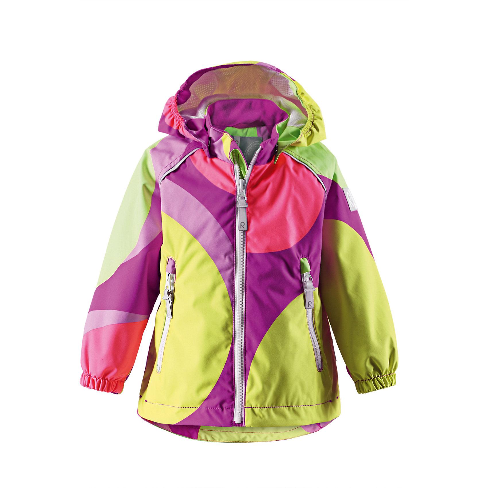 Куртка для девочки Reimatec ReimaВерхняя одежда<br>Продолжим играть! Дождь не будет помехой, если ребенок отправится на прогулку в демисезонной куртке с супер модным принтом из водонепроницаемого, и при этом дышащего материала. Обратите внимание, что с удобной системой кнопочных застежек Play Layers® можно легко пристегнуть к куртке несколько слоев Reima® для создания дополнительного тепла и комфорта в холодные дни. Эта куртка для малышей «дышит» весенним воздухом благодаря удобной сетчатой подкладке. Съемный капюшон и светоотражающие детали обеспечивают дополнительную безопасность во время веселого времяпровождения на открытом воздухе. <br><br>Дополнительная информация:<br><br>Куртка демисезонная для малышей<br>Водонепроницаемость: 15000 мм<br>Все швы проклеены и водонепроницаемы<br>Водо- и ветронепроницаемый, «дышащий» и грязеотталкивающий материал<br>Подкладка из mesh-сетки<br>Регулируемый подол<br>Два кармана на молнии<br>Безопасные светоотражающие детали<br>Состав:<br>100% ПЭ, ПУ-покрытие<br>Уход:<br>Стирать по отдельности, вывернув наизнанку. Застегнуть молнии и липучки. Стирать моющим средством, не содержащим отбеливающие вещества. Полоскать без специального средства. Во избежание изменения цвета изделие необходимо вынуть из стиральной машинки незамедлительно после окончания программы стирки. Можно сушить в сушильном шкафу или центрифуге (макс. 40° C).<br><br>Ширина мм: 356<br>Глубина мм: 10<br>Высота мм: 245<br>Вес г: 519<br>Цвет: розовый<br>Возраст от месяцев: 18<br>Возраст до месяцев: 24<br>Пол: Женский<br>Возраст: Детский<br>Размер: 92,98,80,74,86<br>SKU: 4497129