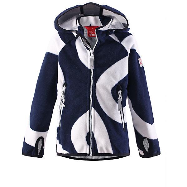 Куртка для мальчика Windfleece ReimaФлис и термобелье<br>А пойдемте-ка на улицу! Никакой ветер не остановит маленьких исследователей в этой флисовой ветровке Reima! Эластичная куртка выполнена из дышащего флиса с ветронепроницаемой мембраной. Материал этой куртки также водо- и грязеотталкивающий. Фигурные, удлиненные рукава с отверстиями под большие пальцы защищают маленькие ладошки от замерзания. Отстегивающийся капюшон обеспечивает защиту от пронизывающего ветра осенью и весной и гарантирует безопасность во время игр. Два кармана на молнии сохранят наиболее важные маленькие предметы во время веселого времяпровождения на воздухе. Куртка разработана для активных детей и для любого вида отдыха на открытом воздухе, при этом она также может использоваться как средний слой под зимнюю куртку при морозной погоде.<br><br>Дополнительная информация:<br><br>Куртка из материала windfleece для детей<br>Из ветронепроницаемого материала, но изделие «дышит»<br>Безопасный, съемный капюшон<br>Эластичная резинка на кромке капюшона, манжетах и подоле<br>Карманы на молнии<br>Состав:<br>100% ПЭ, ПУ-мембрана<br>Уход:<br>Стирать по отдельности. Застегнуть молнии и липучки. Стирать моющим средством, не содержащим отбеливающие вещества. Полоскать без специального средства. Во избежание изменения цвета изделие необходимо вынуть из стиральной машинки незамедлительно после окончания программы стирки. Сушить при низкой температуре.<br>Ширина мм: 356; Глубина мм: 10; Высота мм: 245; Вес г: 519; Цвет: синий; Возраст от месяцев: 60; Возраст до месяцев: 72; Пол: Мужской; Возраст: Детский; Размер: 116,140,134,104,92,98,110,122,128; SKU: 4497293;
