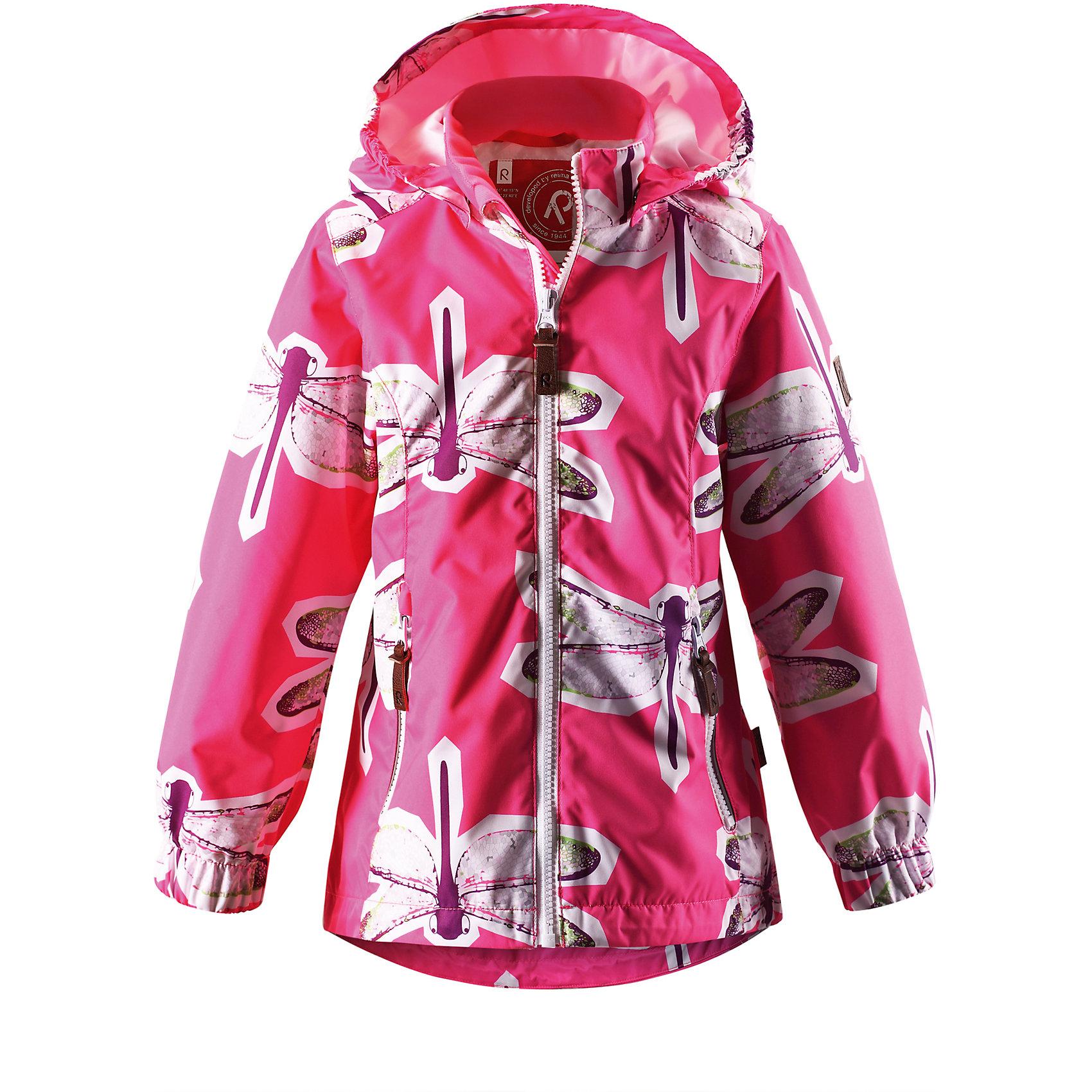 Куртка для девочки ReimaКрасивая, удлиненная демисезонная куртка для детей эффективно защищает от ветра. Дышащий материал также является водо- и грязеотталкивающим, а основные швы данной куртки проклеены для создания водонепроницаемости. Гладкая подкладка из полиэстера облегчает одевание и превращает его в веселый процесс. Отстегивающийся капюшон и светоотражающие детали обеспечивают безопасность во время прогулок в поисках впечатлений, а карманы с клапанами идеально подходят для хранения маленьких ценностей.<br><br>Дополнительная информация:<br><br>Куртка демисезонная для детей<br>Основные швы проклеены и не пропускают влагу<br>Водоотталкивающий, ветронепроницаемый, «дышащий» и грязеотталкивающий материал<br>Гладкая подкладка из полиэстра<br>Безопасный, съемный капюшон<br>Регулируемый подол<br>Два кармана на молнии<br>Безопасные светоотражающие детали<br>Состав:<br>100% ПЭ, ПУ-покрытие<br>Уход:<br>Стирать по отдельности, вывернув наизнанку. Застегнуть молнии и липучки. Стирать моющим средством, не содержащим отбеливающие вещества. Полоскать без специального средства. Во избежание изменения цвета изделие необходимо вынуть из стиральной машинки незамедлительно после окончания программы стирки. Сушить при низкой температуре.<br><br>Ширина мм: 356<br>Глубина мм: 10<br>Высота мм: 245<br>Вес г: 519<br>Цвет: розовый<br>Возраст от месяцев: 24<br>Возраст до месяцев: 36<br>Пол: Женский<br>Возраст: Детский<br>Размер: 98,140,134,128,116,110,104,92,122<br>SKU: 4497332